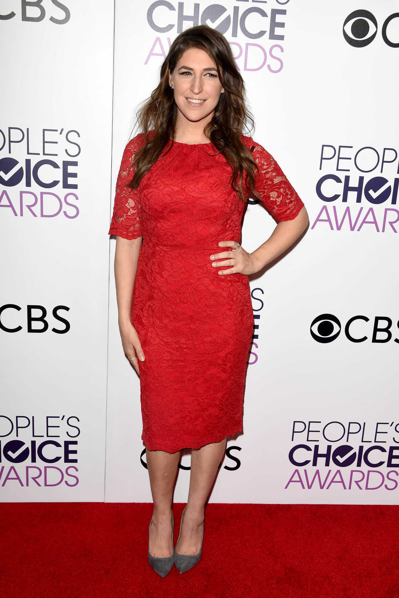 Mayim Bialik at the 43rd Annual People's Choice Awards in Los Angeles 01/18/2017