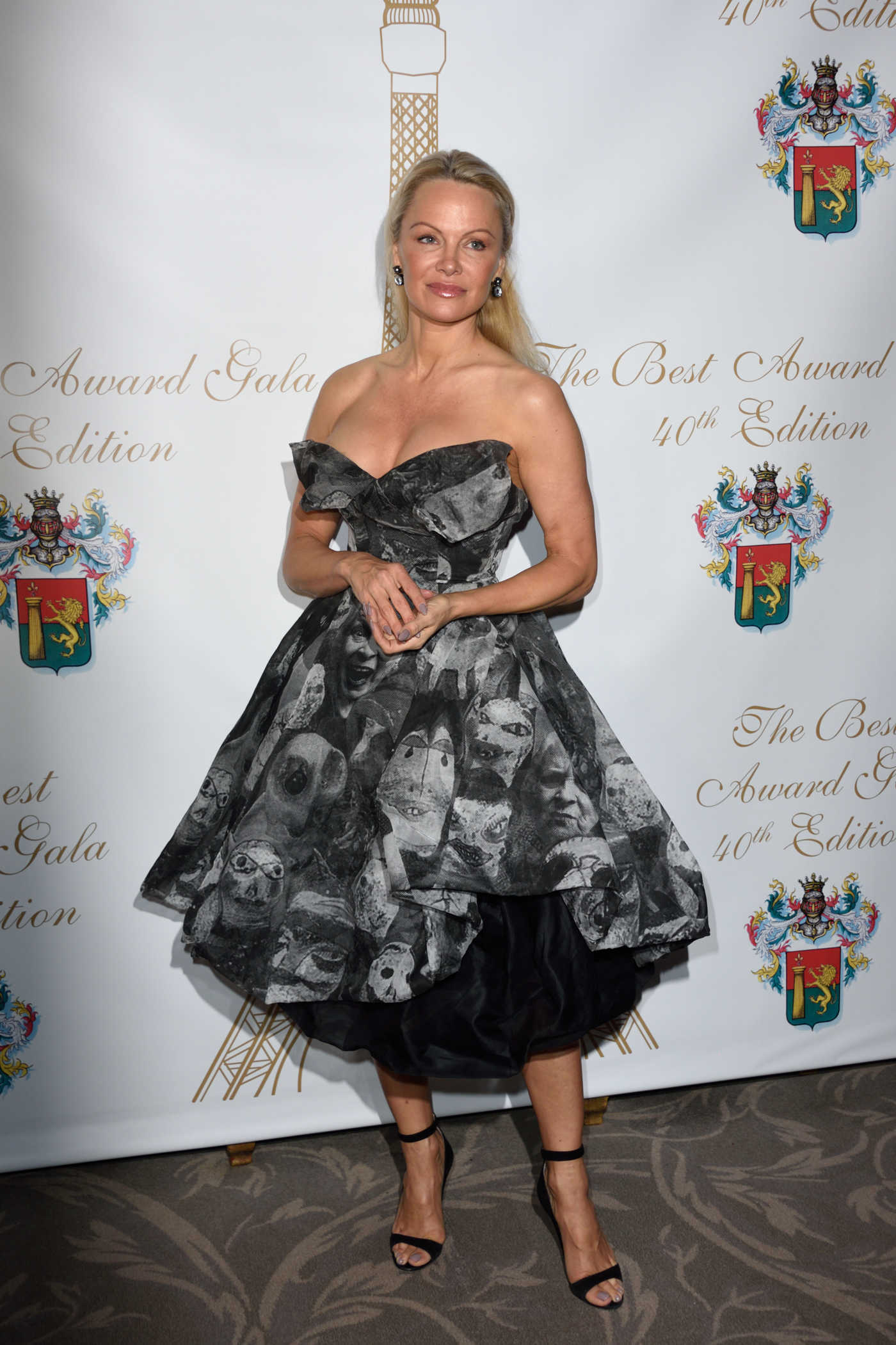 Pamela Anderson at the 40th Best Award Gala at Four Seasons George V Hotel in Paris 01/27/2017