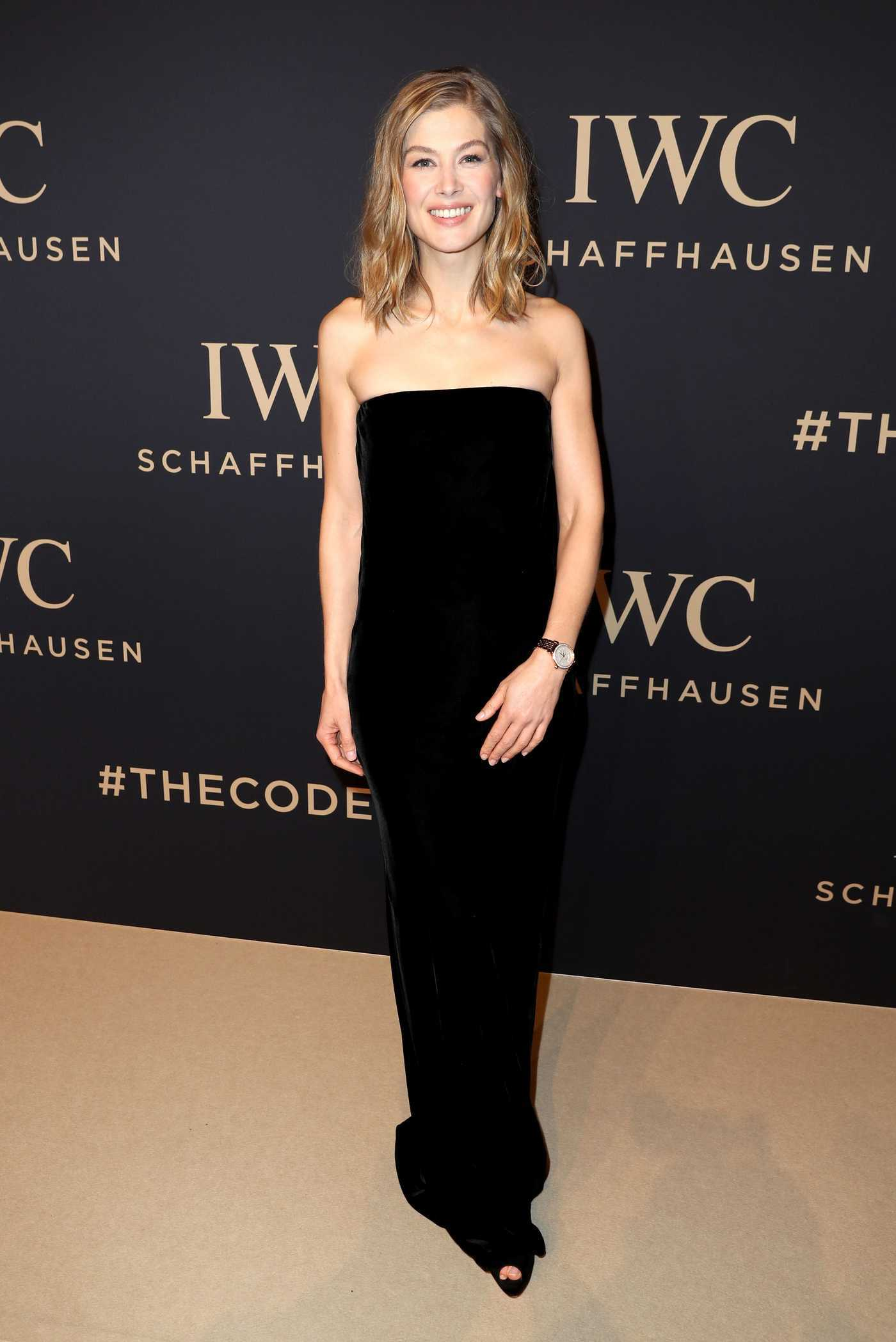 Rosamund Pike at the IWC Gala Decoding the Beauty of Time in Geneva 01/17/2017