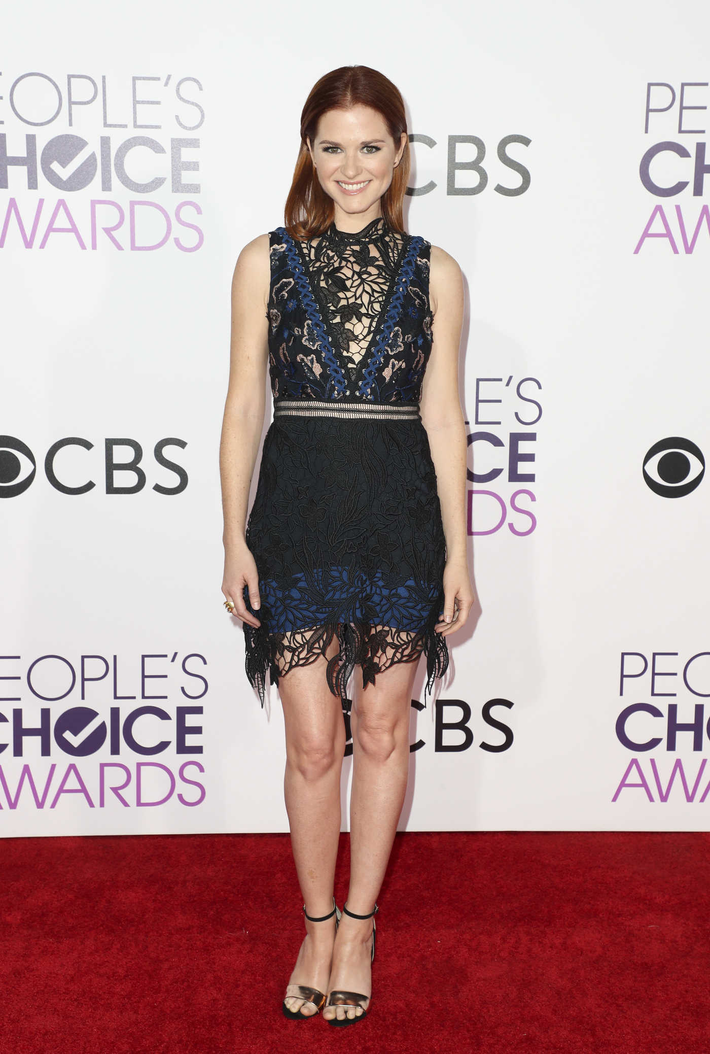 Sarah Drew at the 43rd Annual People's Choice Awards in Los Angeles 01/18/2017