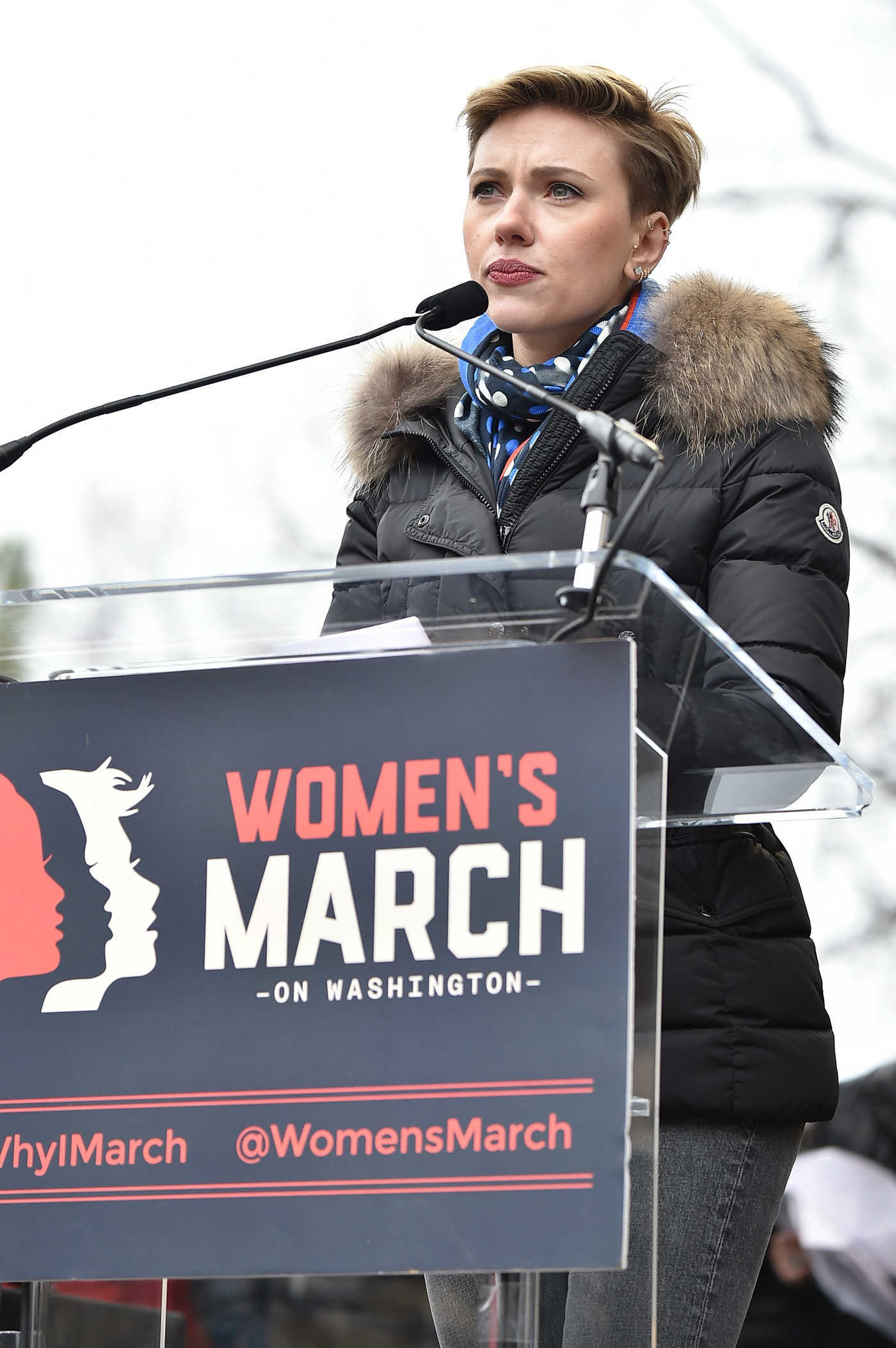 Scarlett Johansson at the Women's March on Washington 01/21/2017