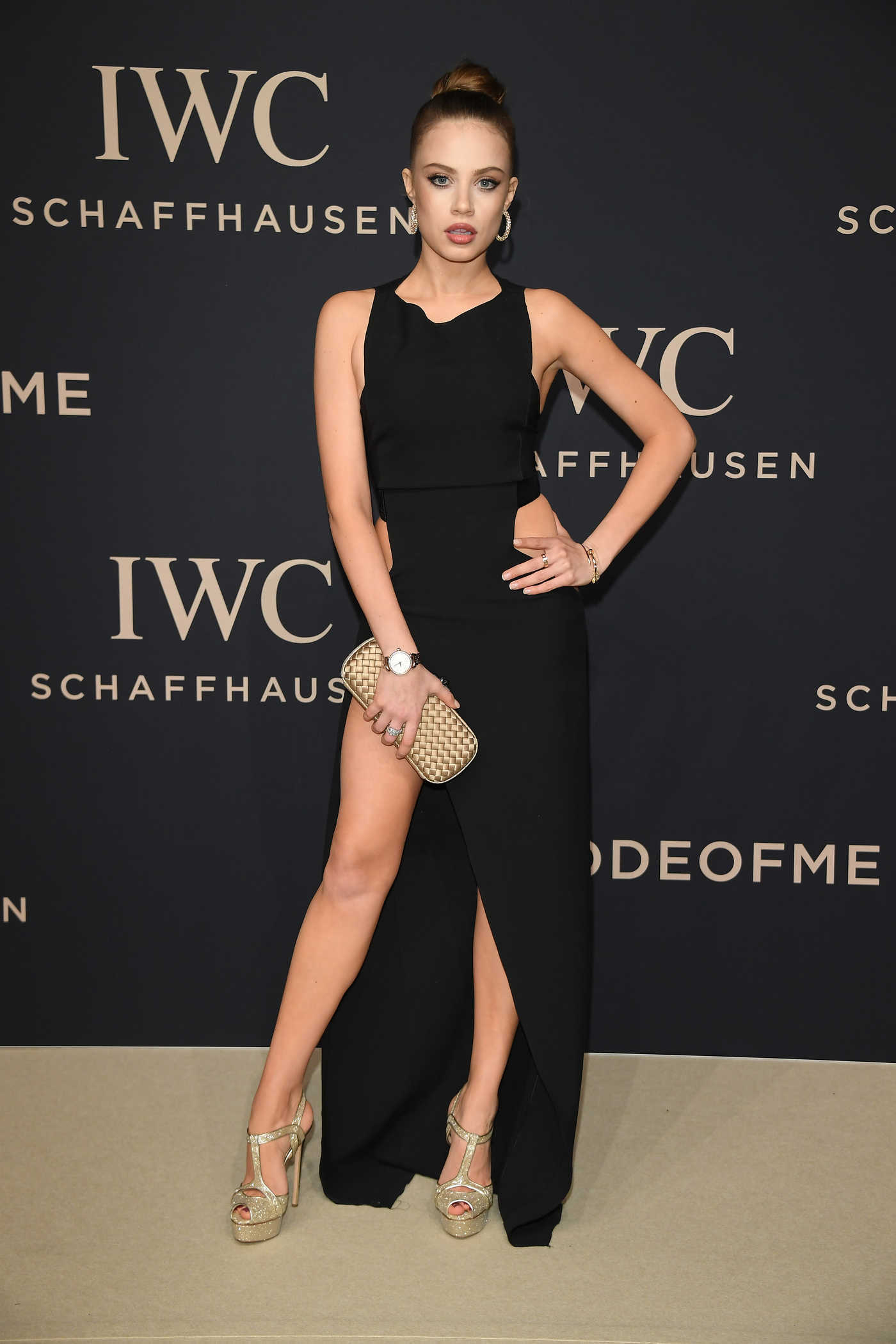 Xenia Tchoumitcheva at the IWC Gala Decoding the Beauty of Time in Geneva 01/17/2017