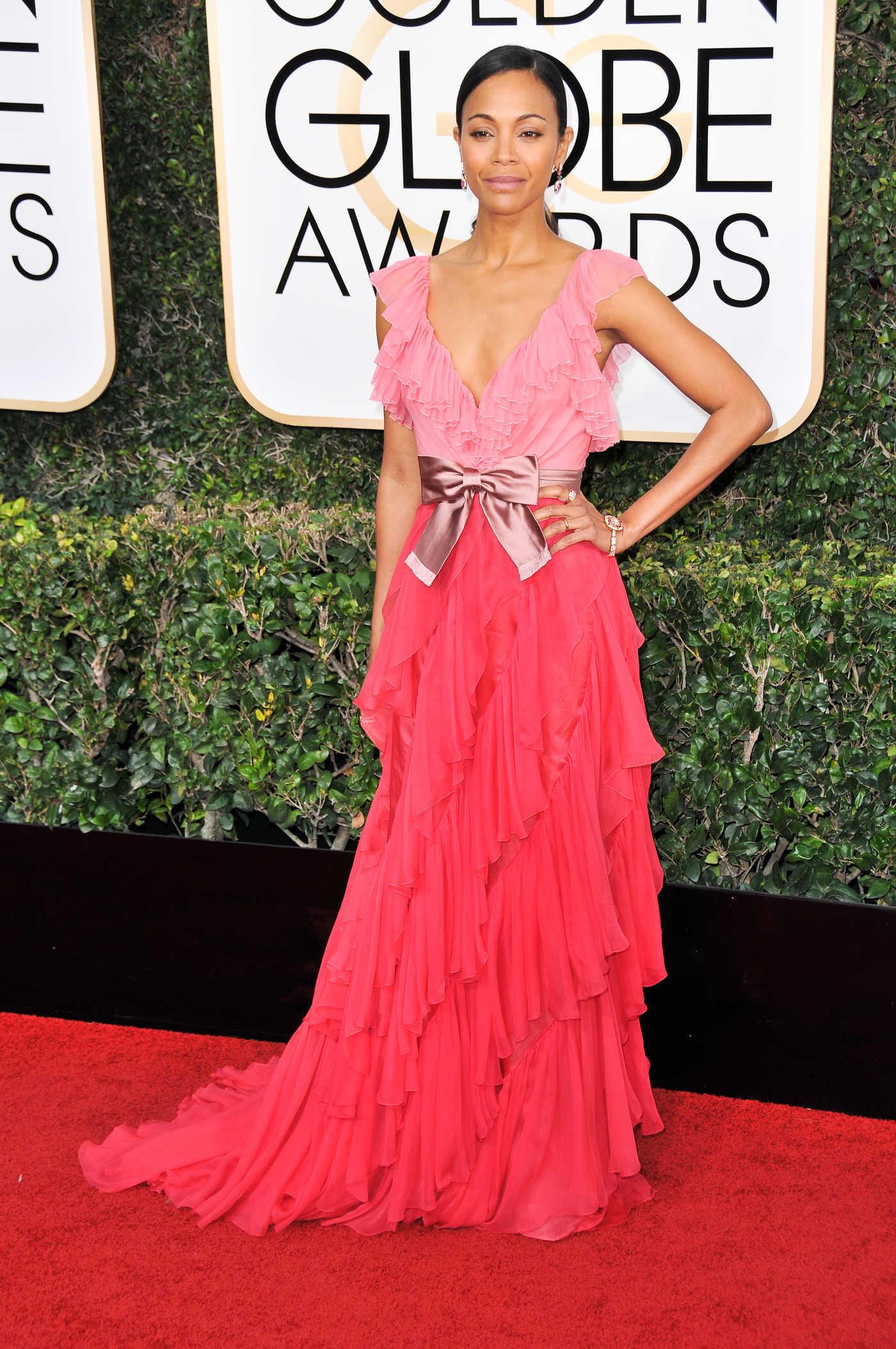 Zoe Saldana at the 74th Annual Golden Globe Awards in Beverly Hills 01/08/2017