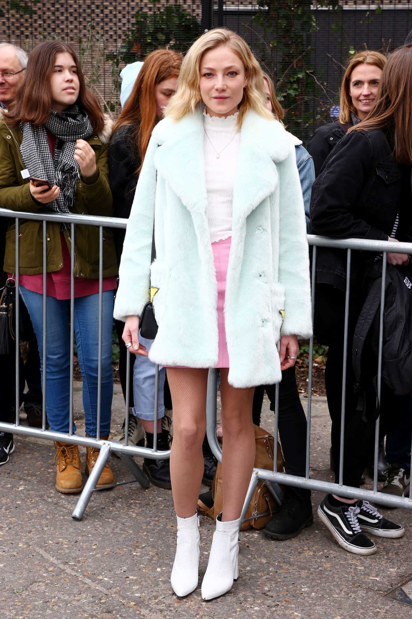 Clara Paget at the Topshop Unique Show During the London Fashion Week 02/19/2017