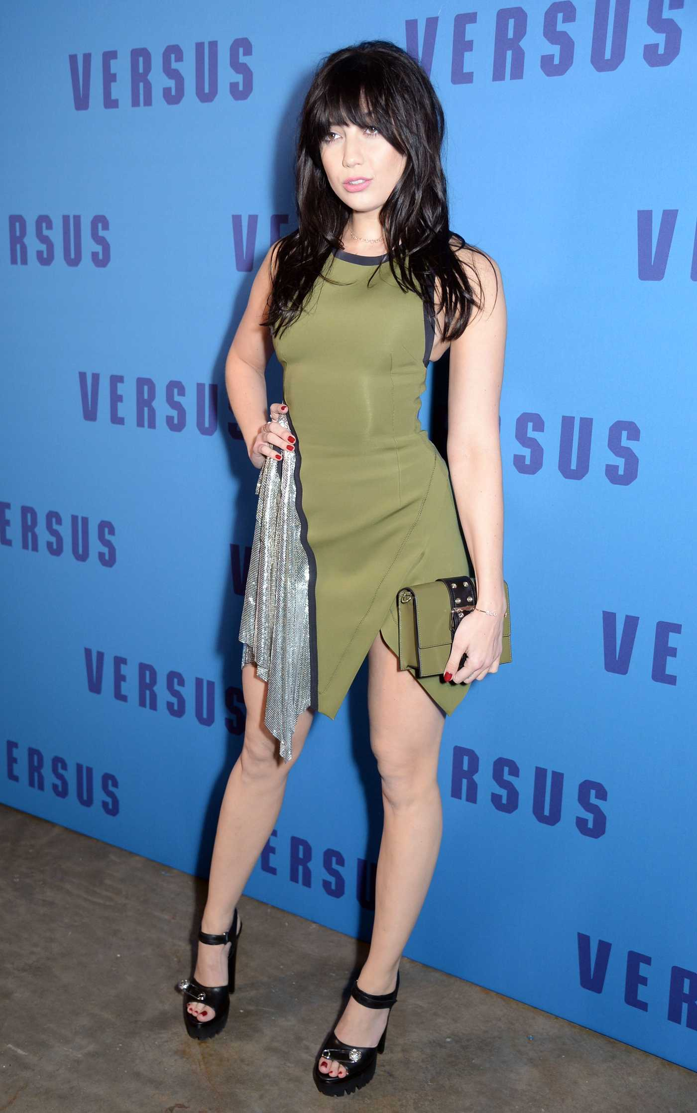 Daisy Lowe at the Versus Versace Show During the London Fashion Week 02/18/2017