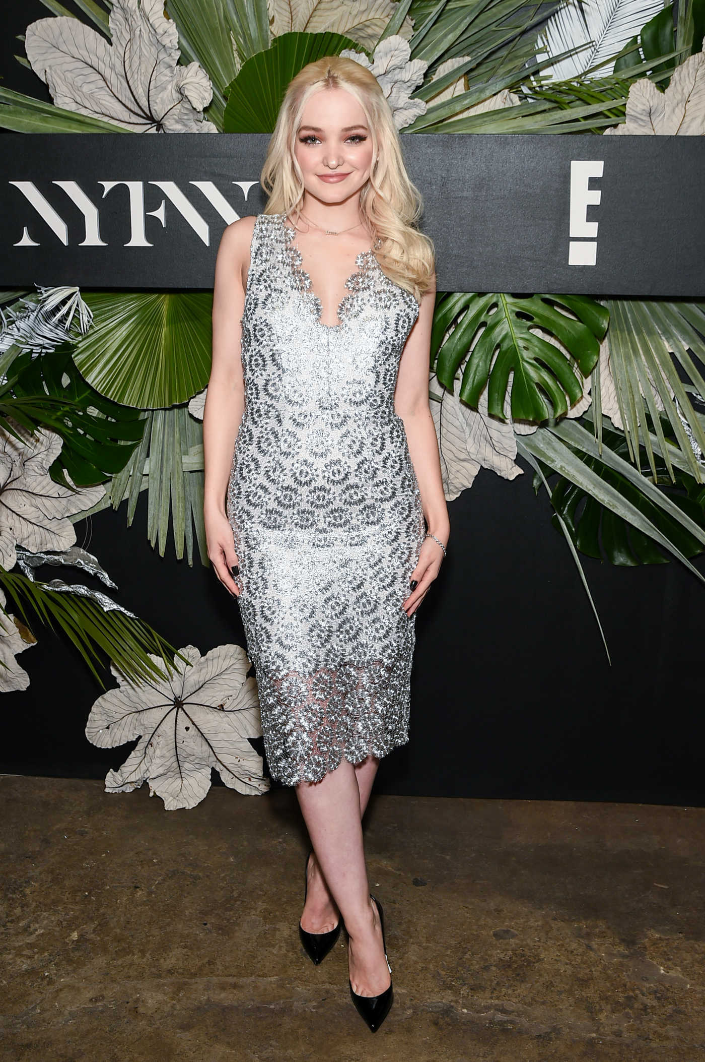 Dove Cameron at the E!, Elle and IMG Fashion Week Kick off in New York City 02/08/2017