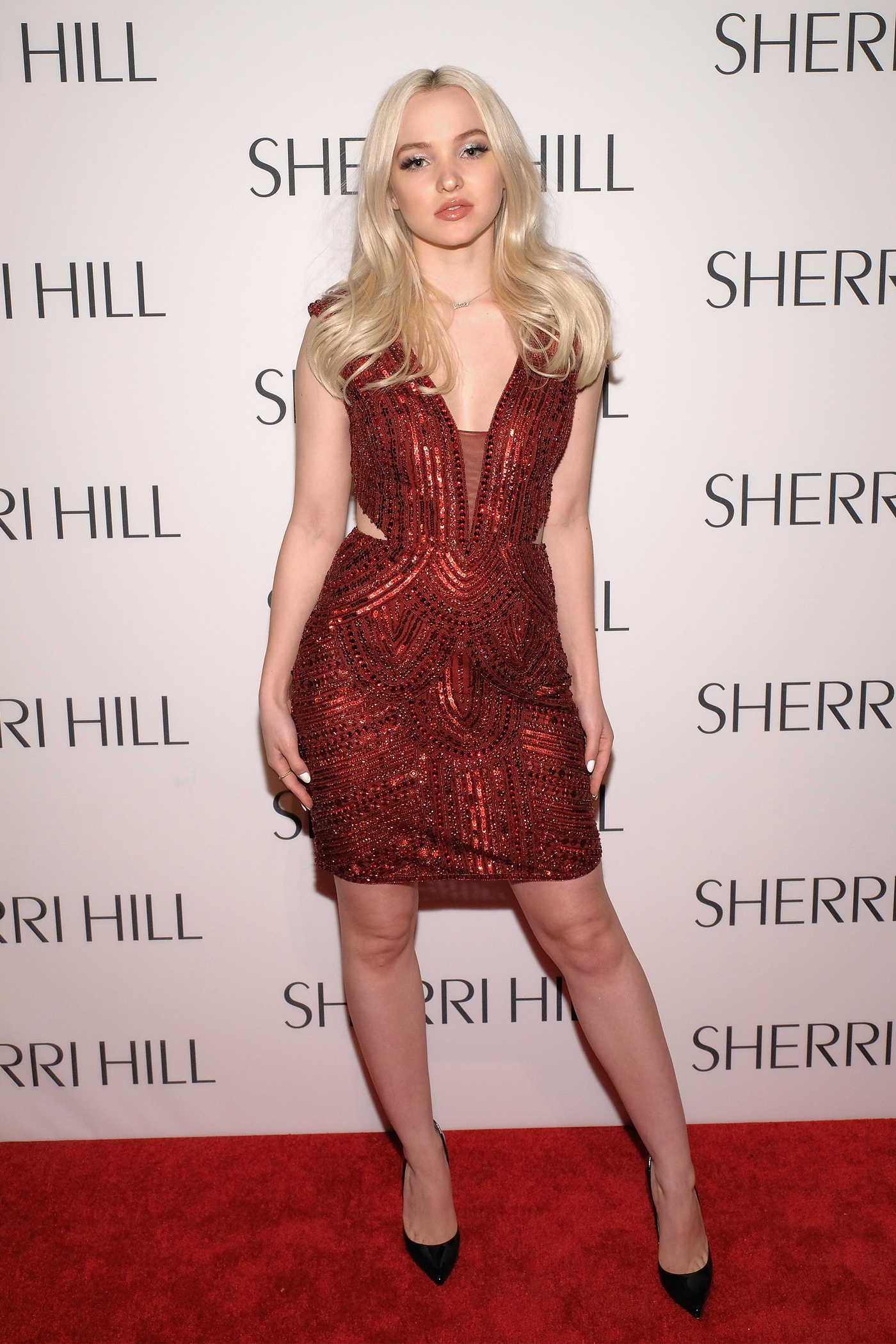 Dove Cameron at the Sherri Hill Fashion Show During the New York Fashion Week 02/13/2017