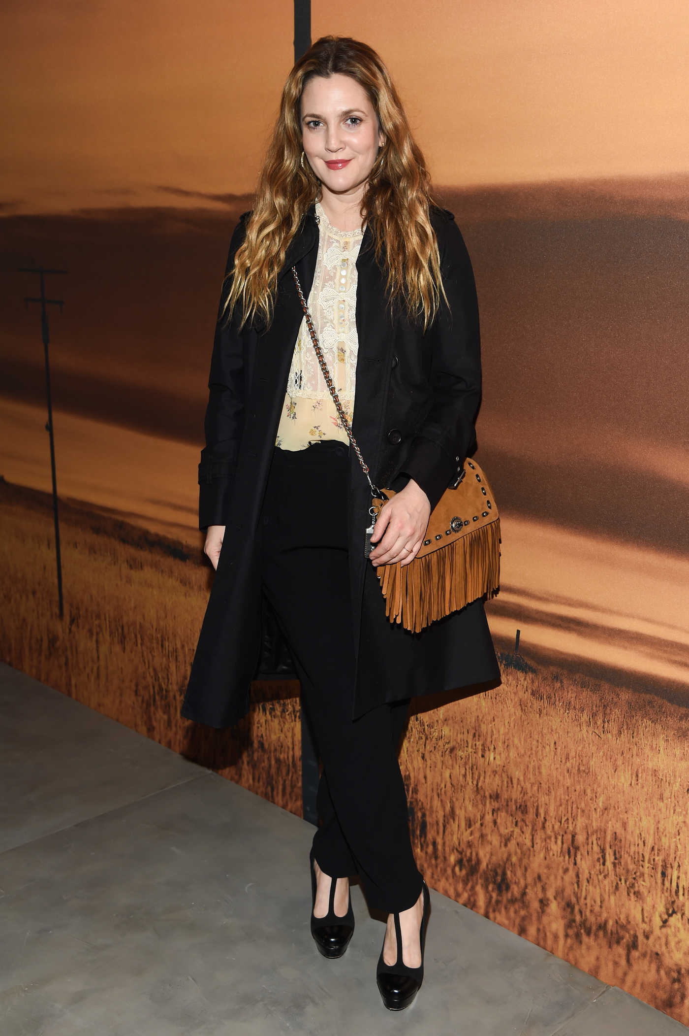 Drew Barrymore at the 2017 Coach Fashion Show During the New York Fashion Week 02/14/2017