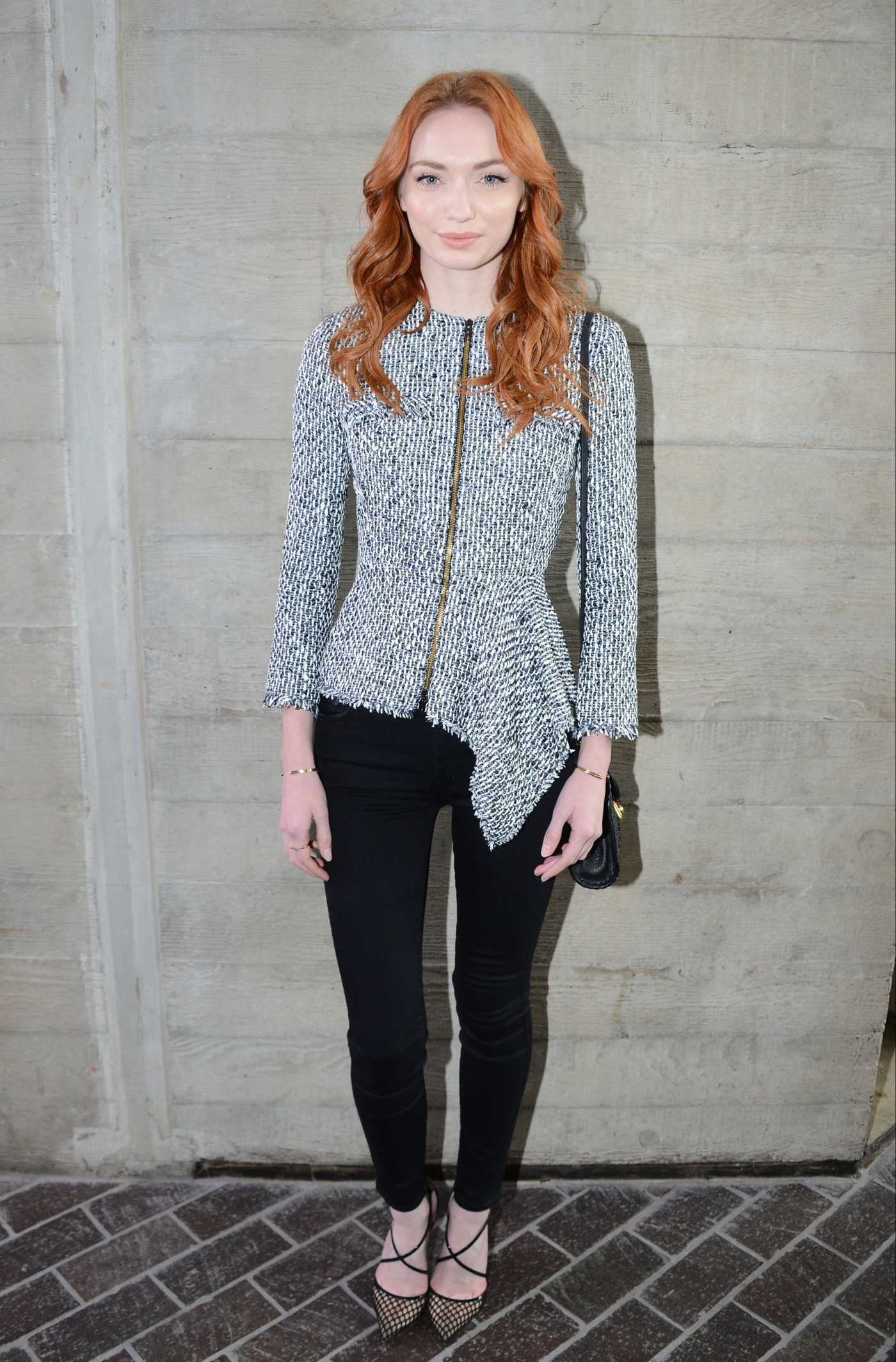 Eleanor Tomlinson at the Roland Mouret Show During the London Fashion Week 02/19/2017
