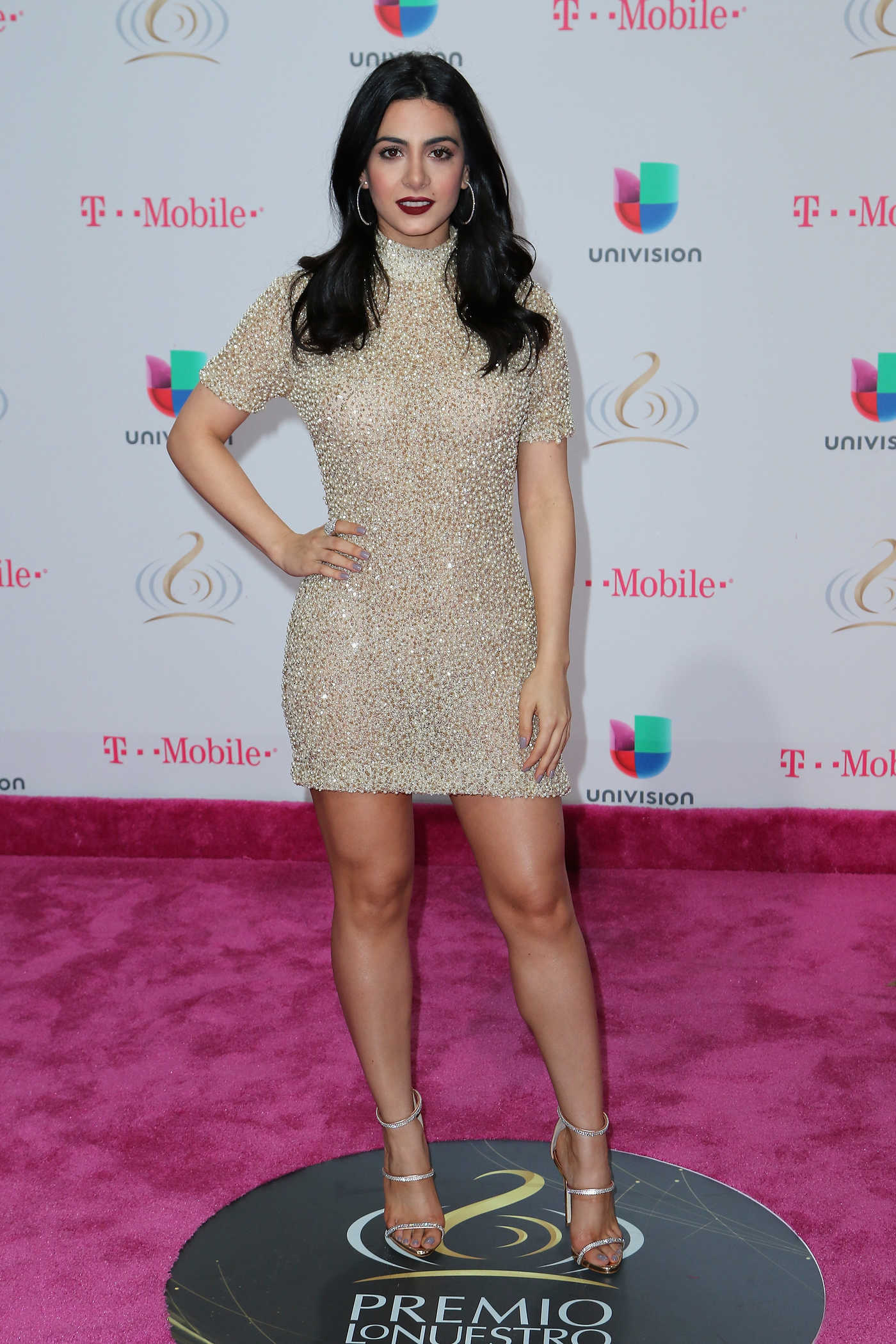 Emeraude Toubia at the 29th Edition of Premio Lo Nuestro a La Musica Latina in Miami 02/23/2017