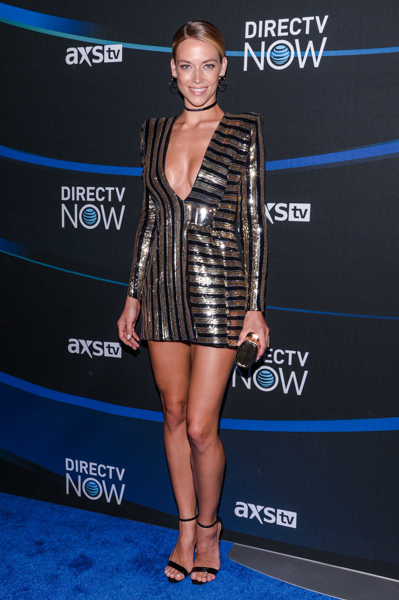 Hannah Ferguson at the 2017 DIRECTV NOW Super Saturday Night Concert in Houston 02/04/2017