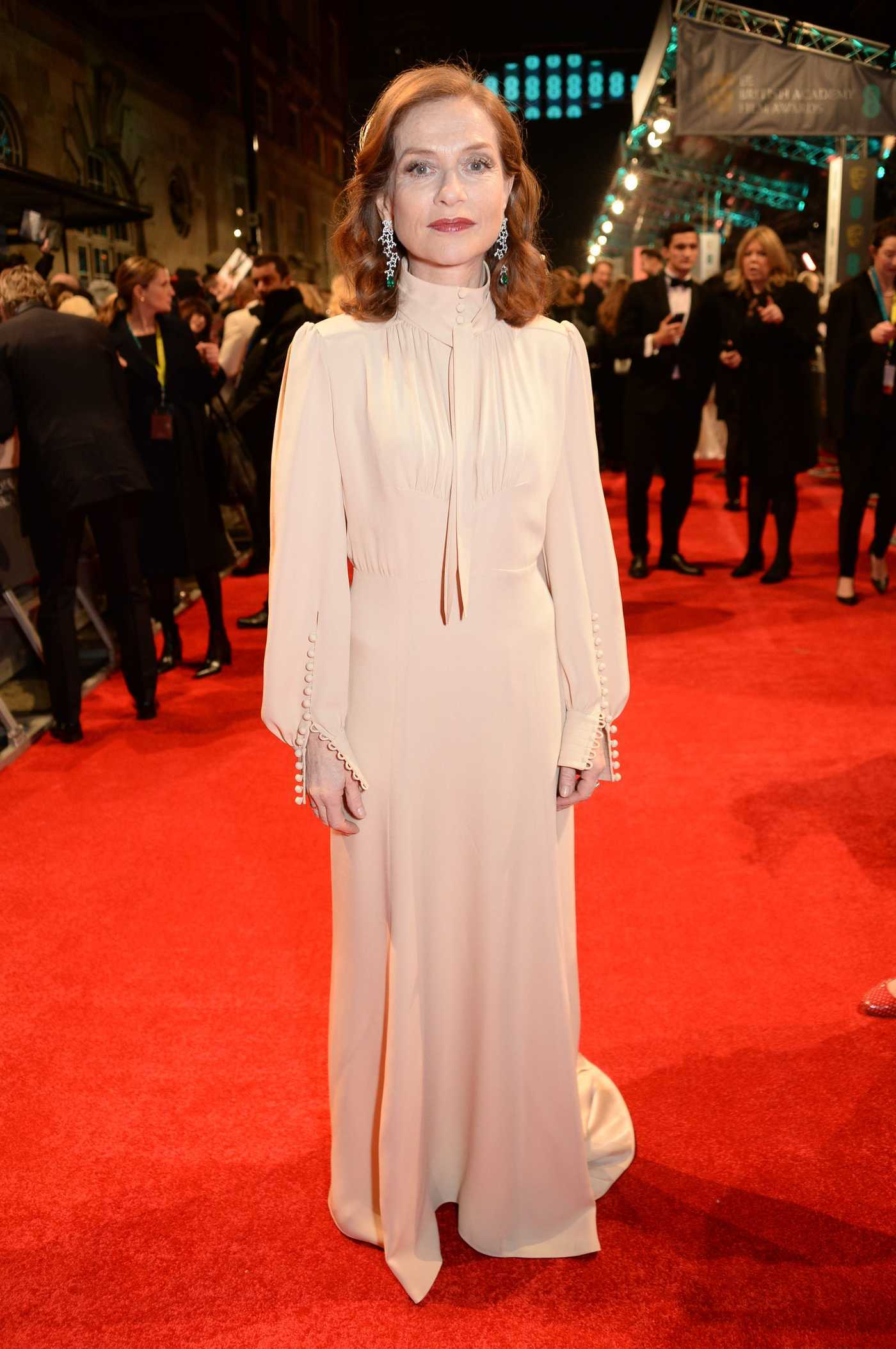Isabelle Huppert at the 70th Annual EE British Academy Film Awards in London 02/12/2017