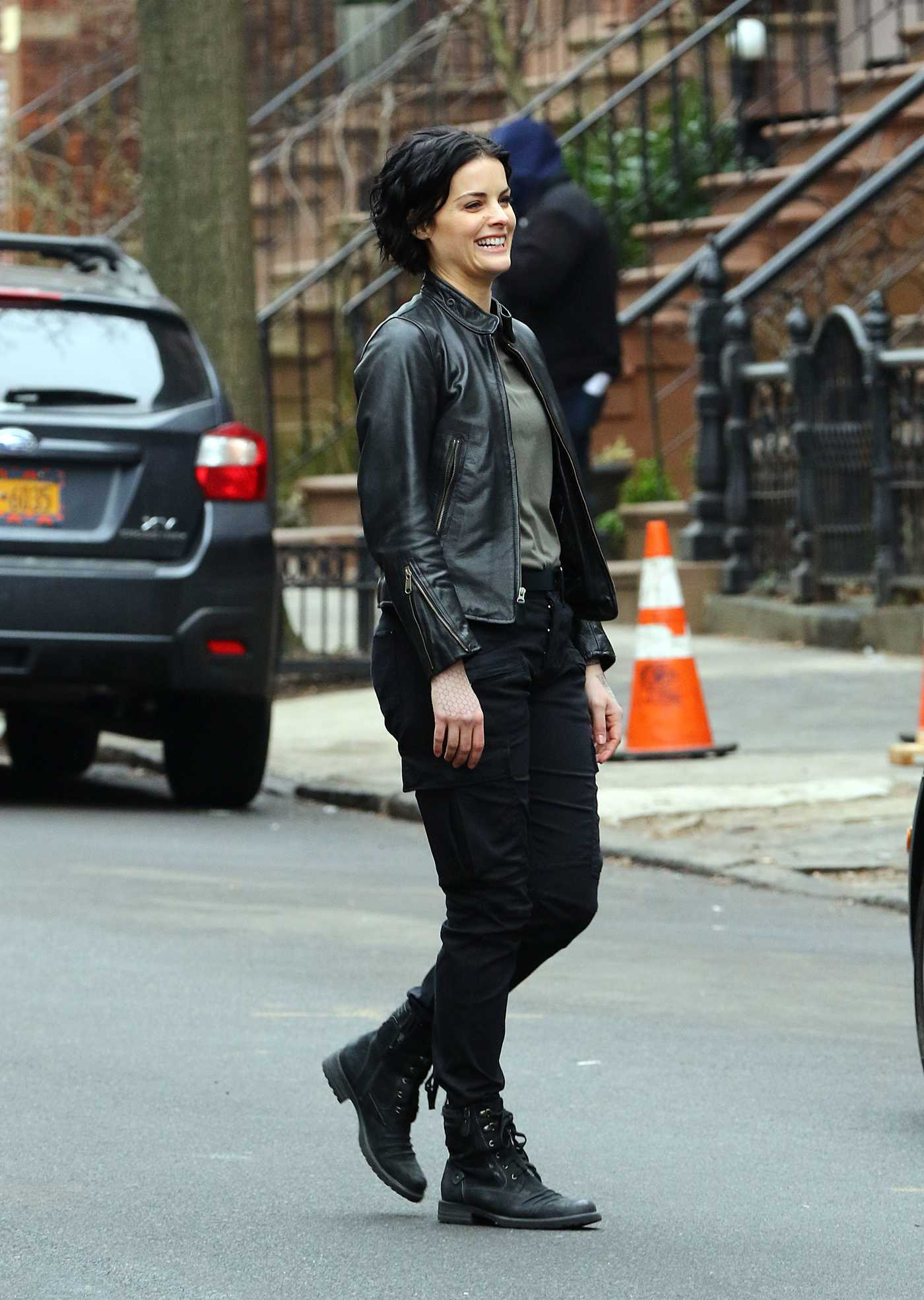 Jaimie Alexander on the Set Blindspot in New York 02/23/2017