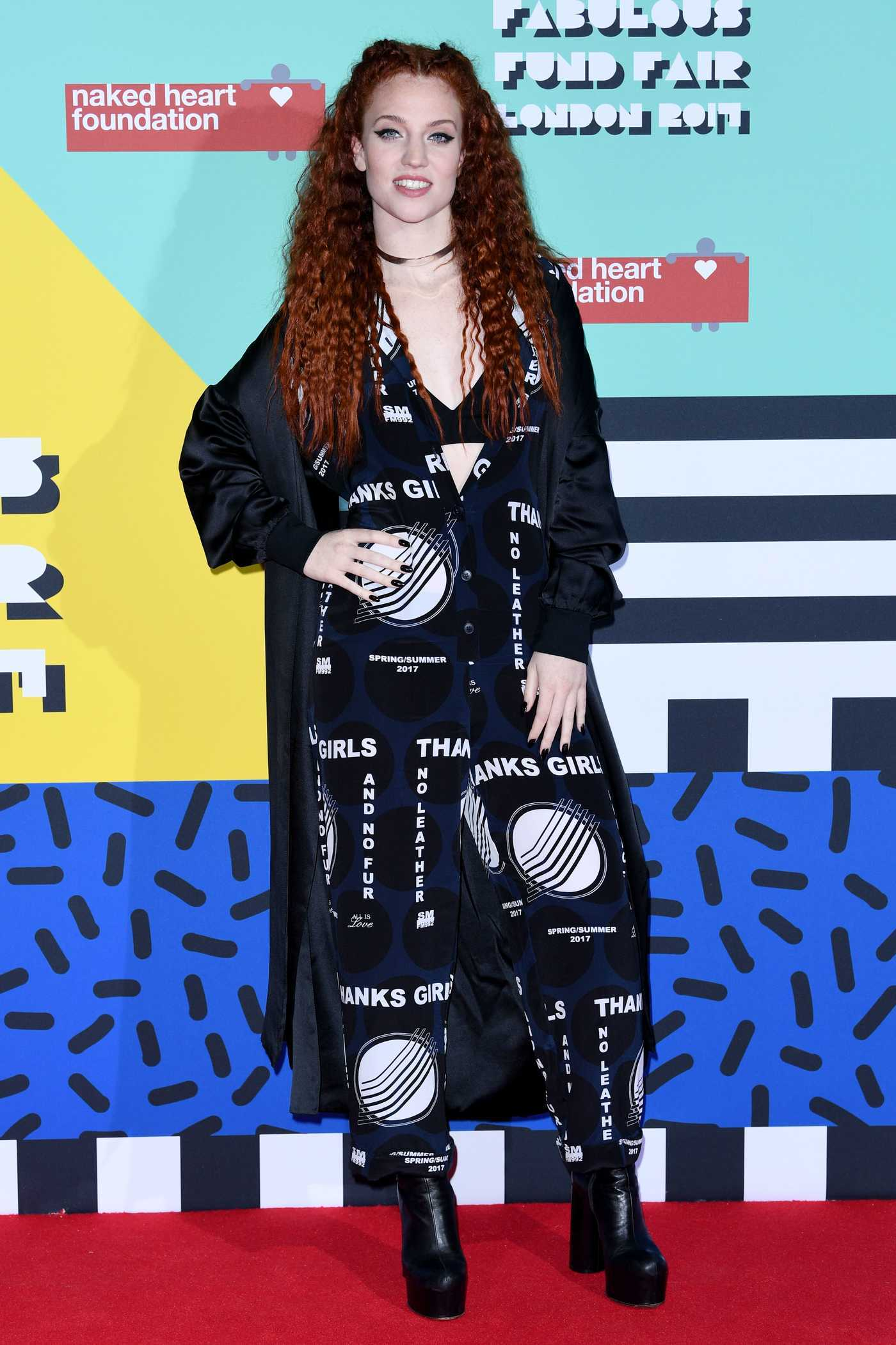 Jess Glynne at the Naked Heart Foundation Fabulous Fund Fair in London 02/21/2017