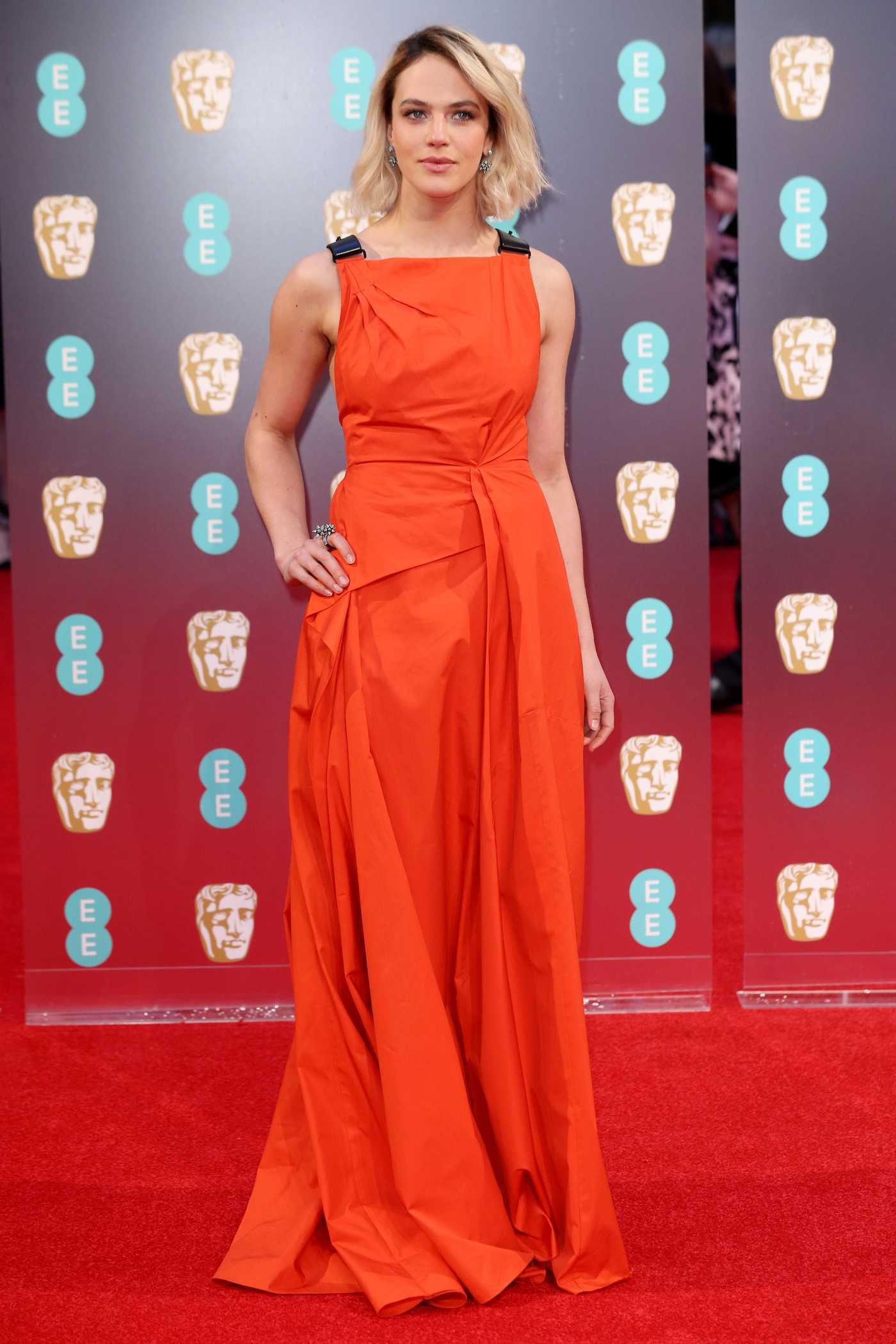 Jessica Brown Findlay at the 70th Annual EE British Academy Film Awards in London 02/12/2017