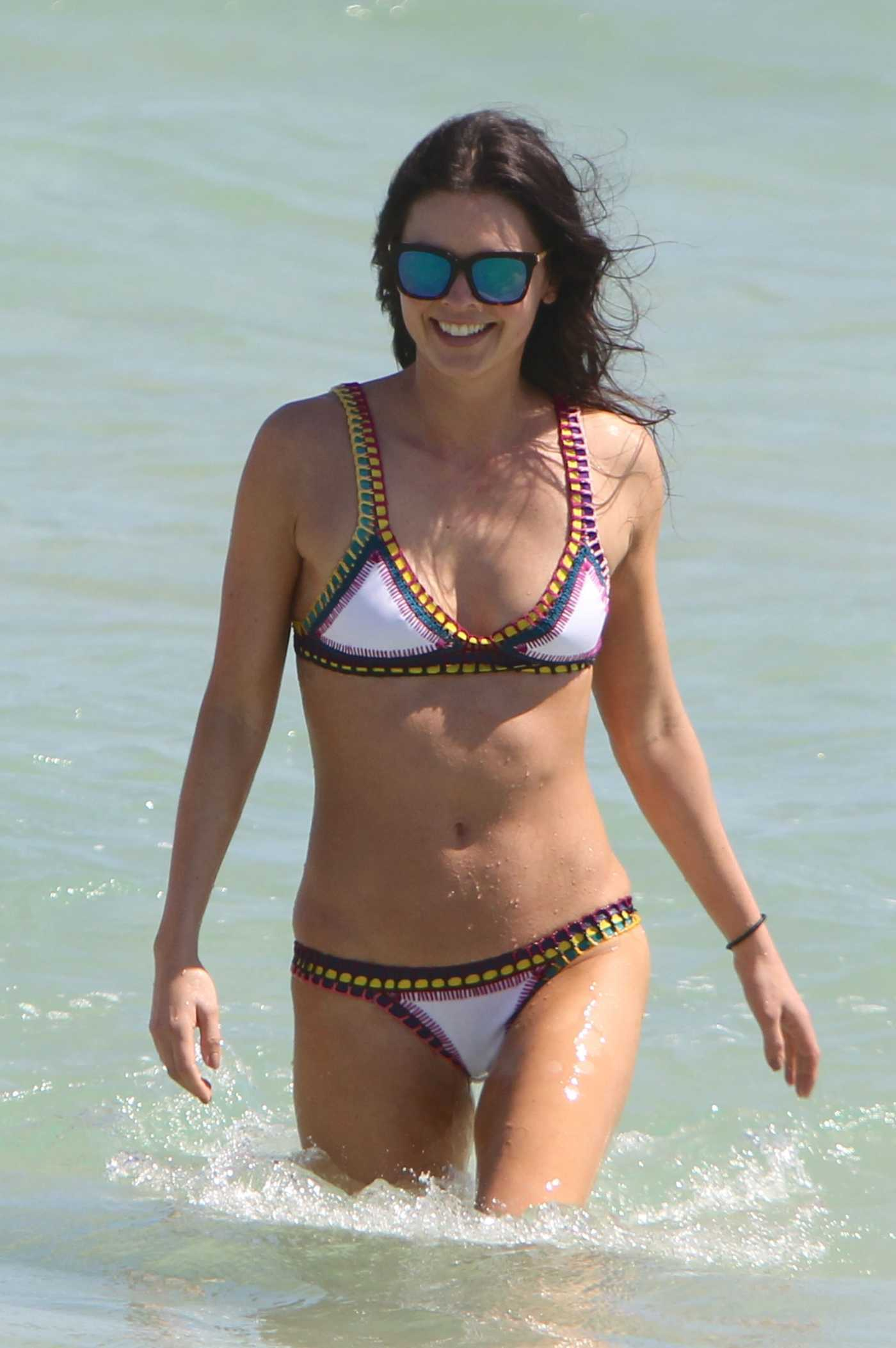 Katie Lee in Bikini at the Beach in Miami Beach 02/26/2017