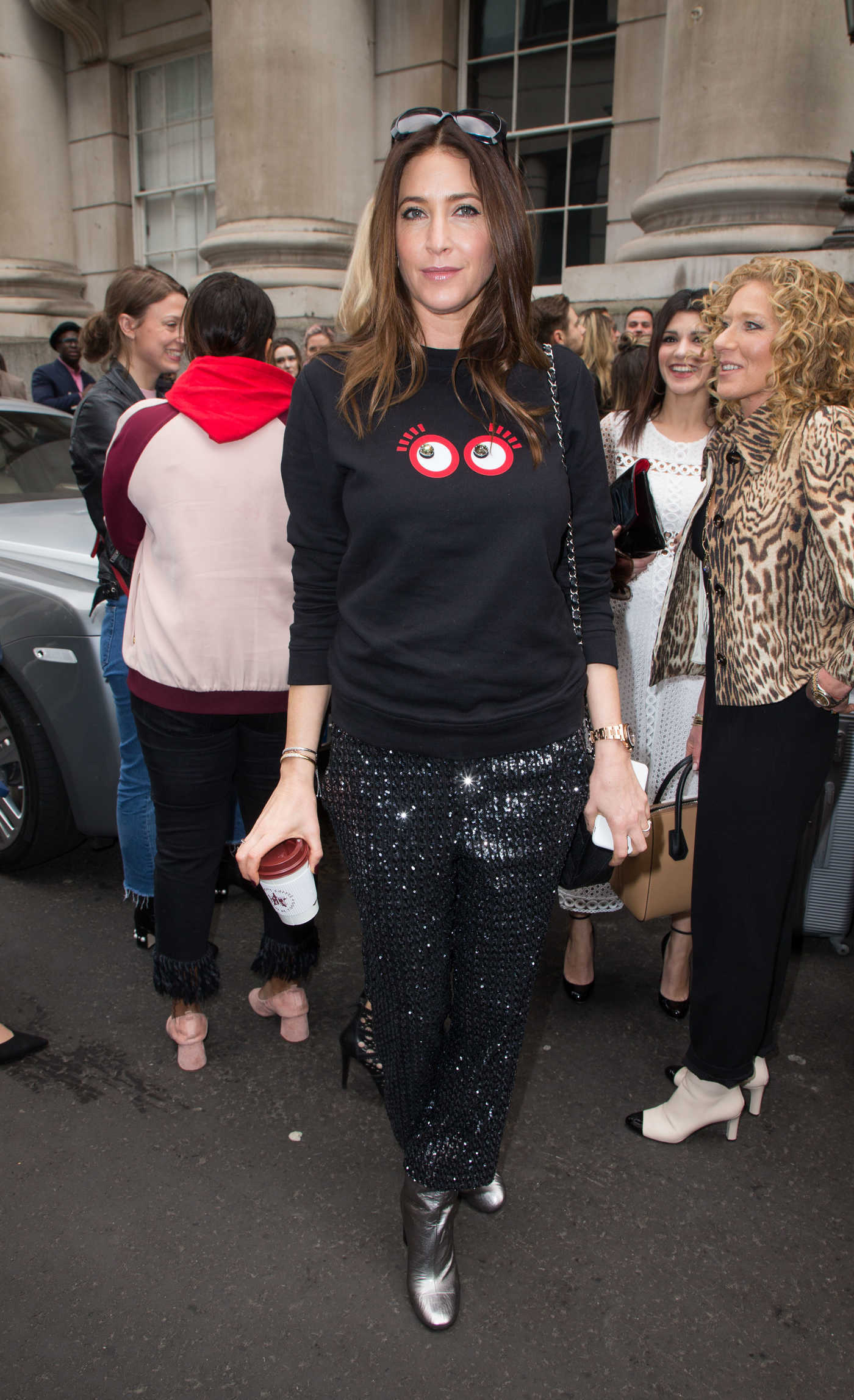Lisa Snowdon at the Julien Macdonald Show During the London Fashion Week 02/18/2017
