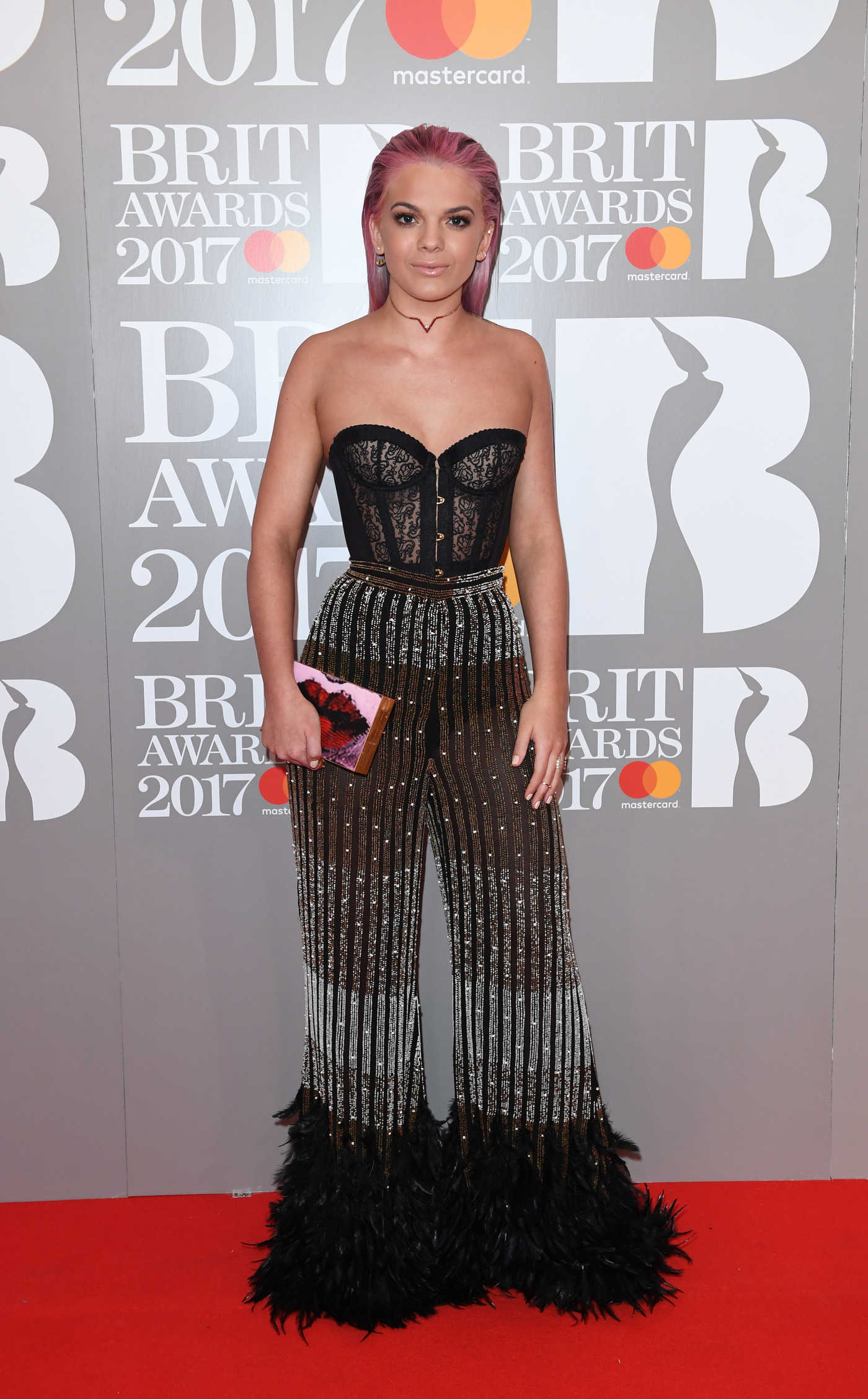 Louisa Johnson at the Brit Awards at O2 Arena in London 02/22/2017