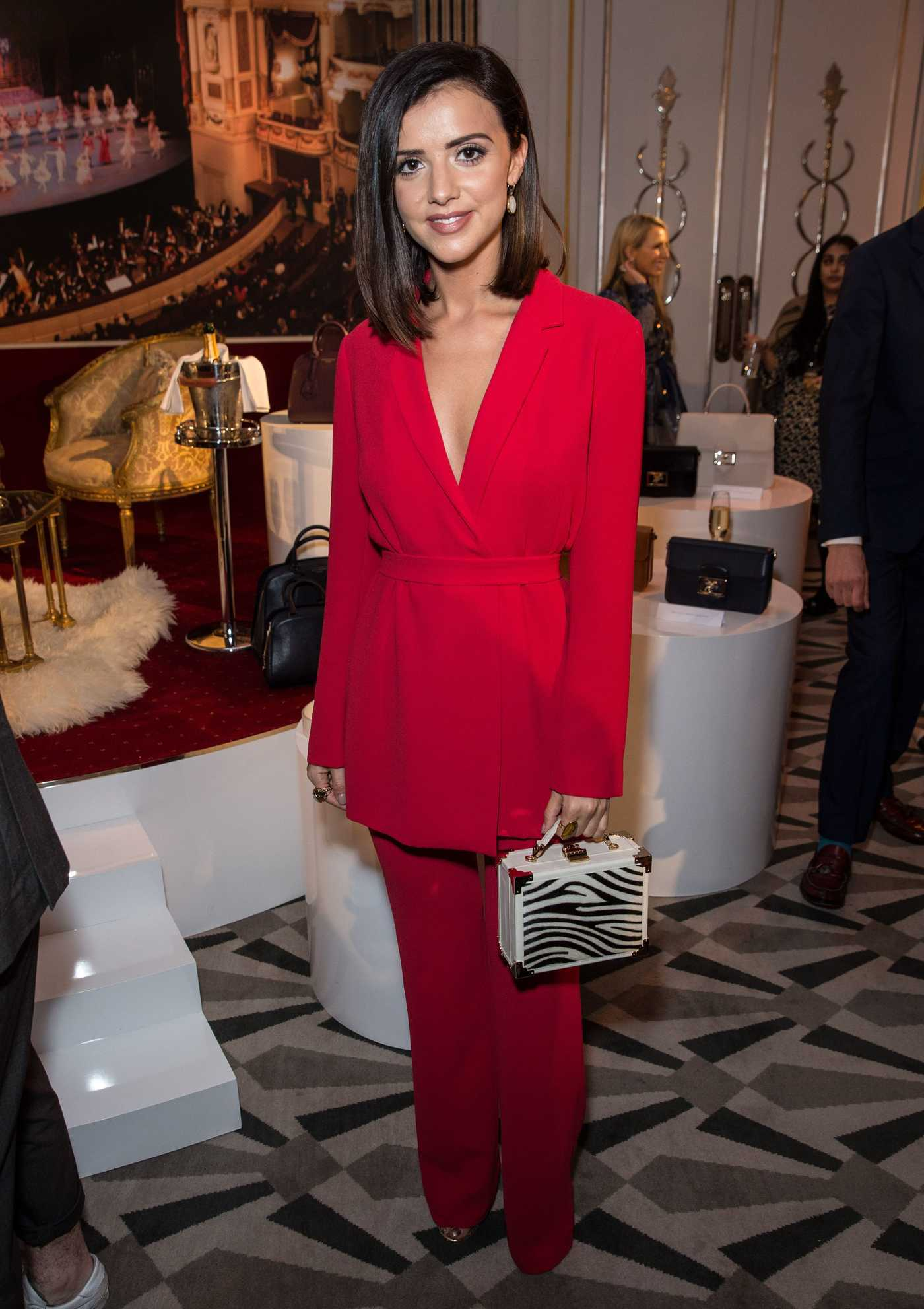 Lucy Mecklenburgh at Aspinal of London Presentation During the London Fashion Week 02/20/2017