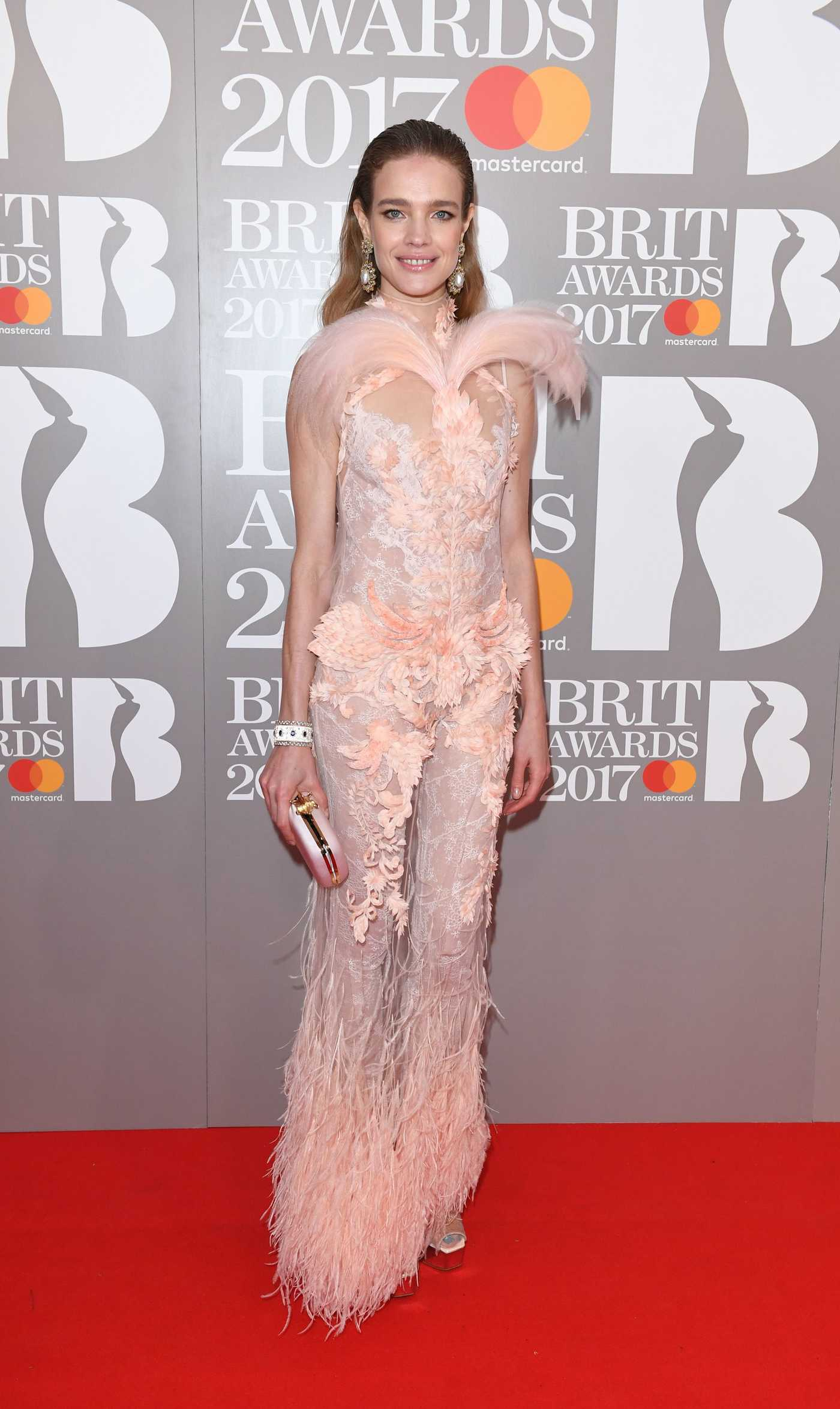 Natalia Vodianova at the Brit Awards at O2 Arena in London 02/22/2017