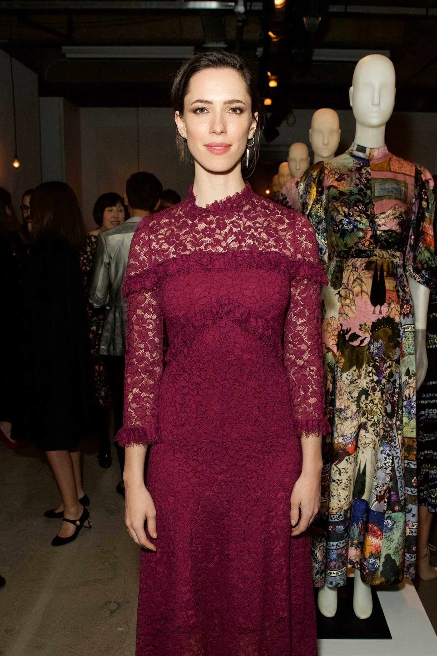 Rebecca Hall at Erdem and Selfridges Dinner During the London Fashion Week 02/20/2017
