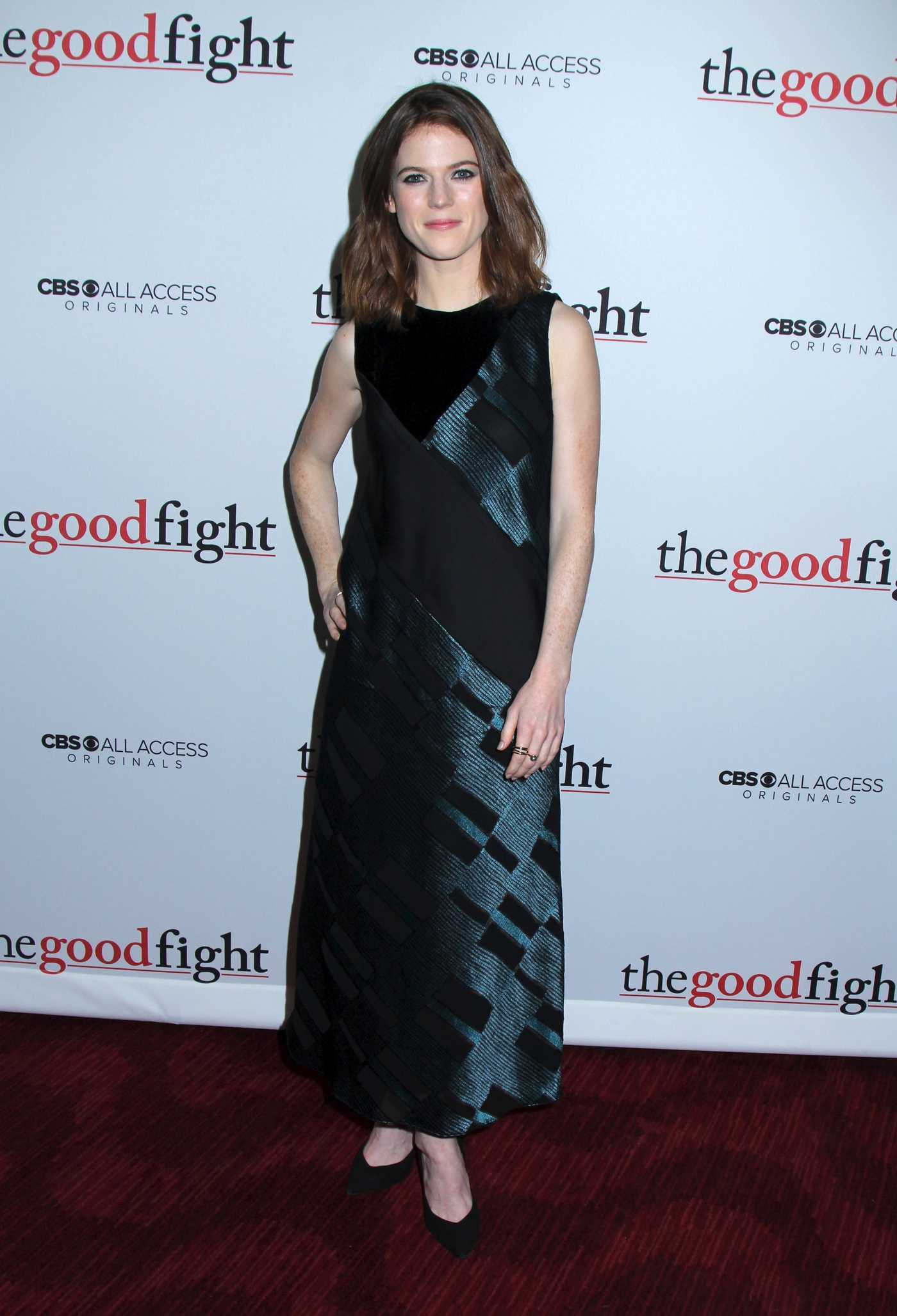 Rose Leslie at The Good Fight TV Series Premiere in New York City 02/08/2017