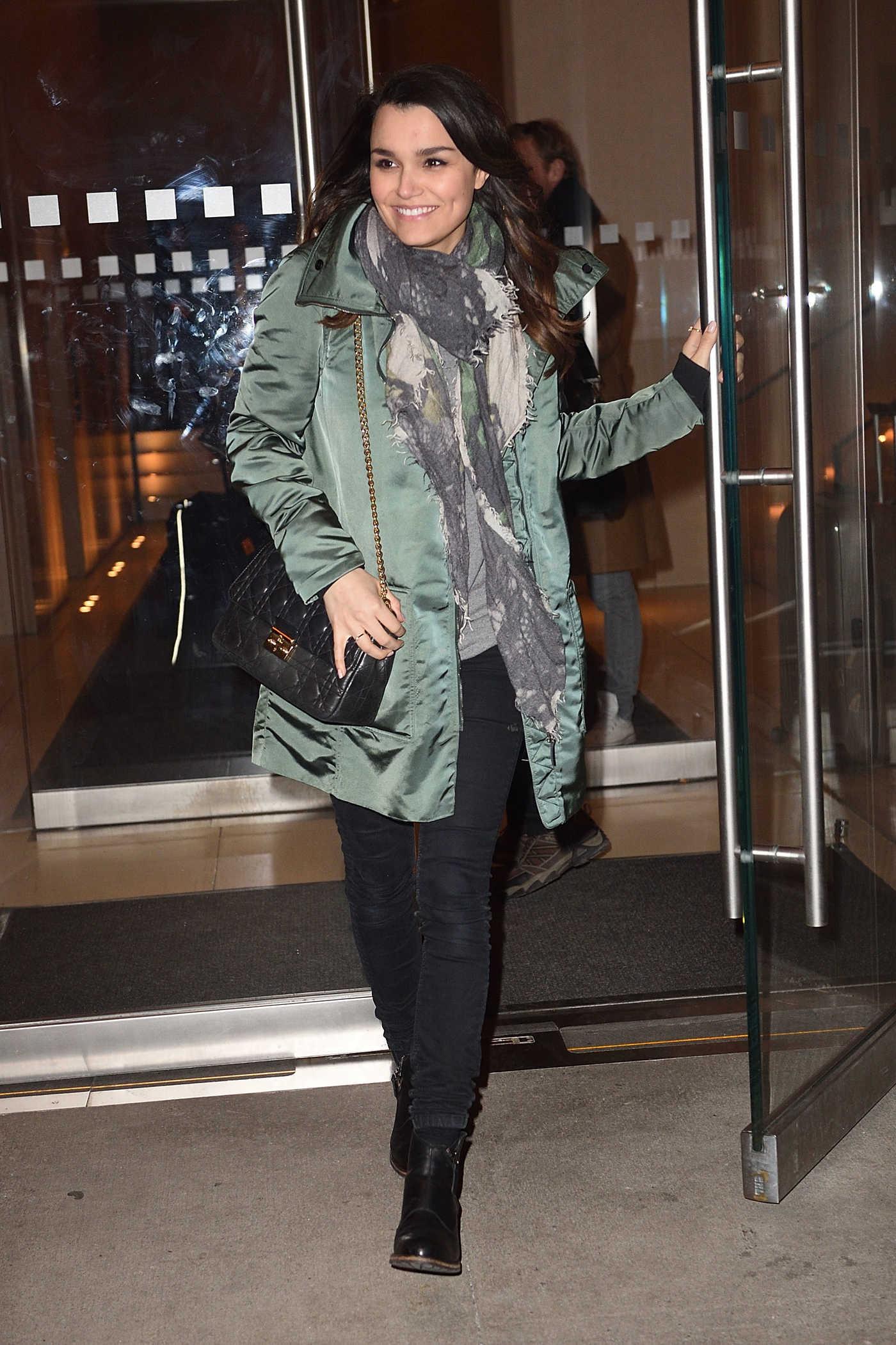 Samantha Barks Leaves Her Hotel in New York 02/17/2017