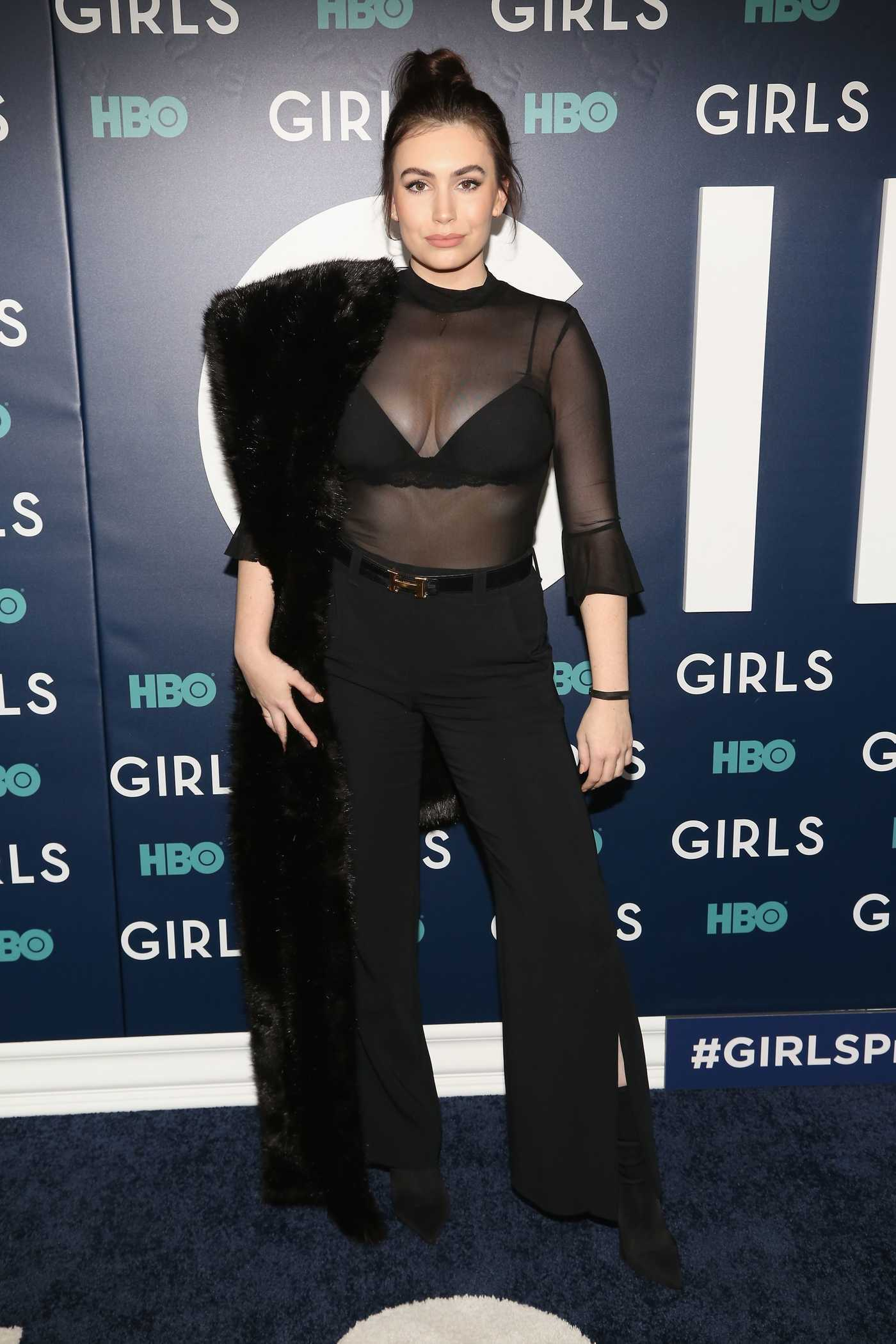 Sophie Simmons at the HBO Girls Season Finale Premiere in New York 02/02/2017