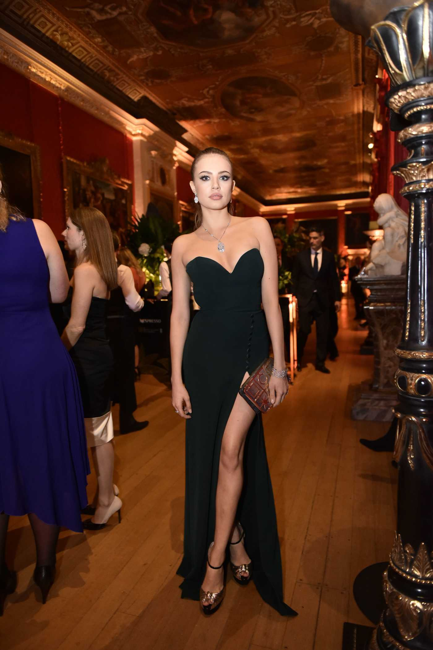 Xenia Tchoumitcheva at the BAFTA Nespresso Nominees Party in London 02/11/2017