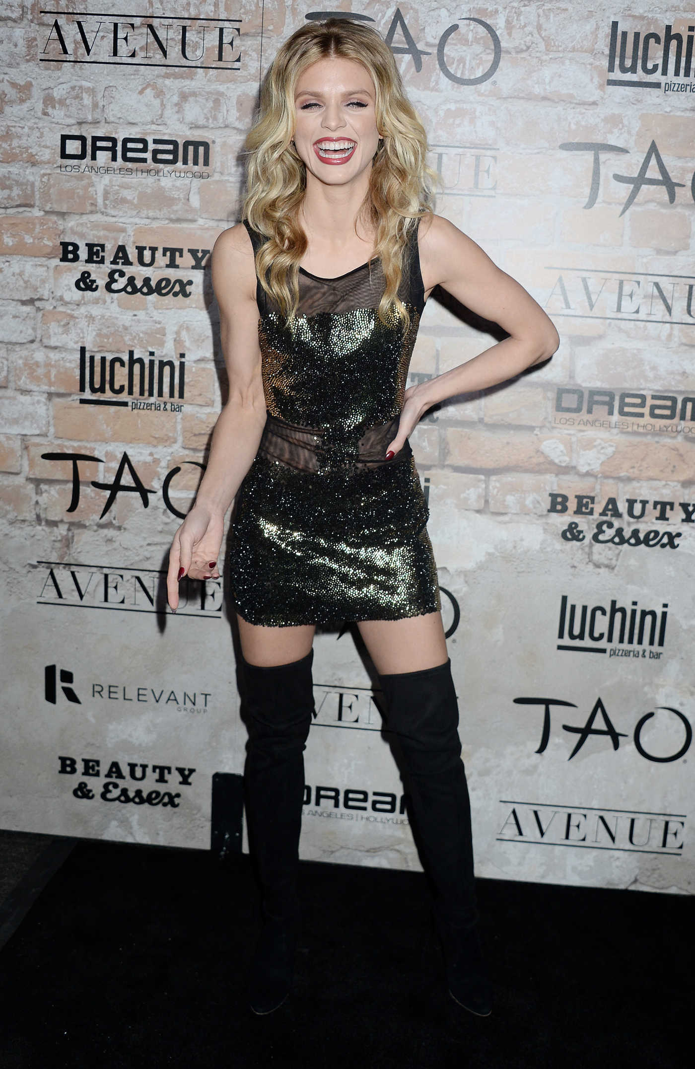 AnnaLynne McCord at the TAO, Beauty + Essex, Avenue + Luchini LA Grand Opening 03/16/2017