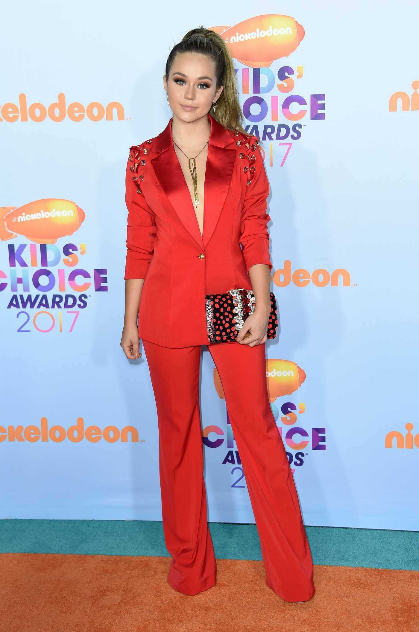 Brec Bassinger at the 2017 Nickelodeon Kids' Choice Awards in Los Angeles 03/11/2017