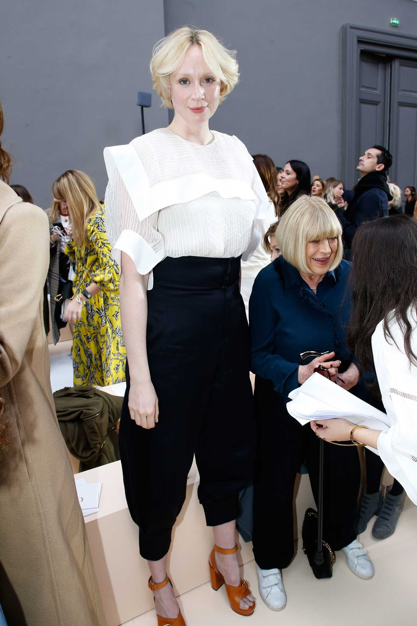 Gwendoline Christie at the Chloe Show During the Paris Fashion Week 03/02/2017