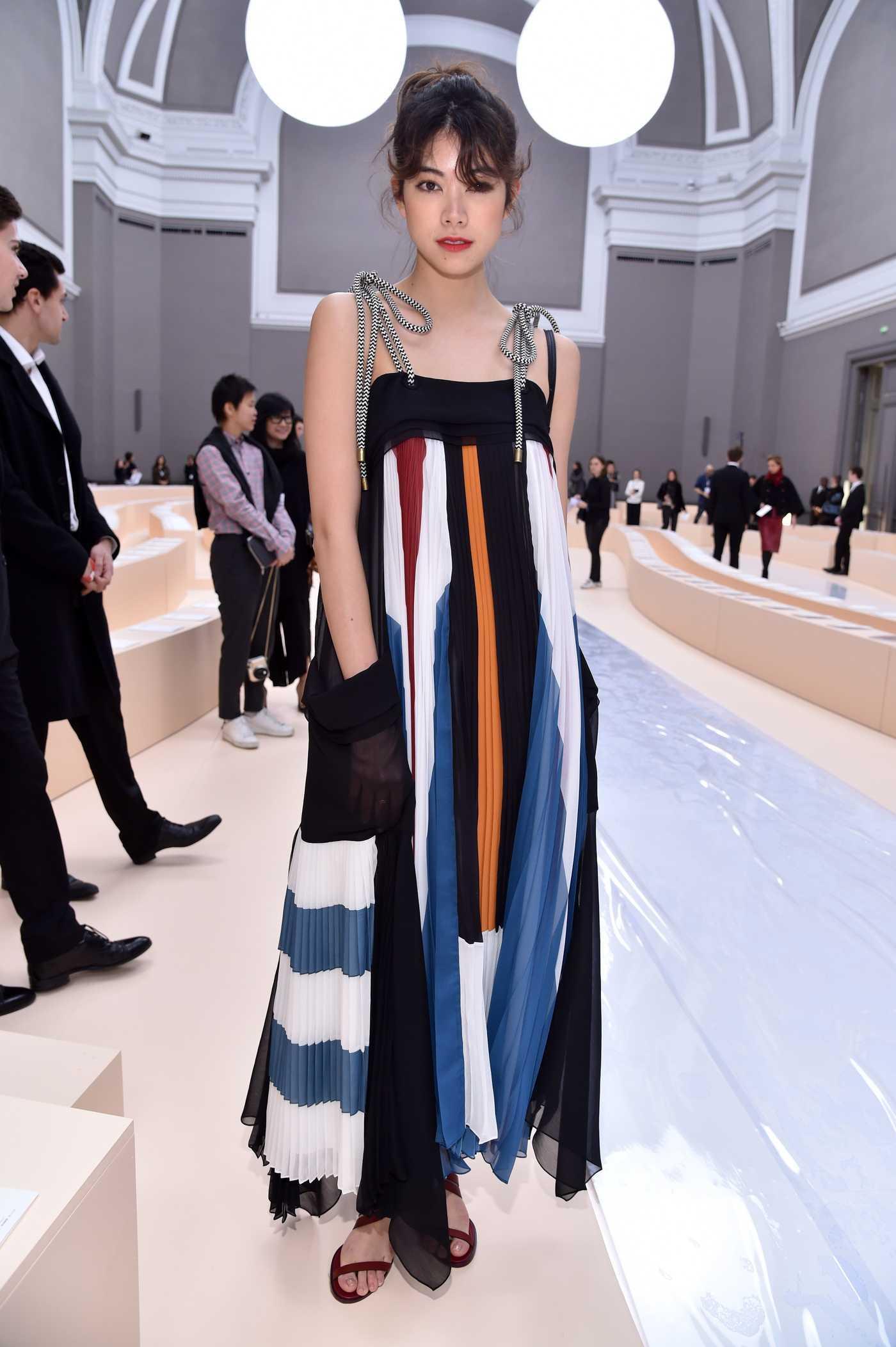 Hikari Mori at the Chloe Show During the Paris Fashion Week 03/02/2017