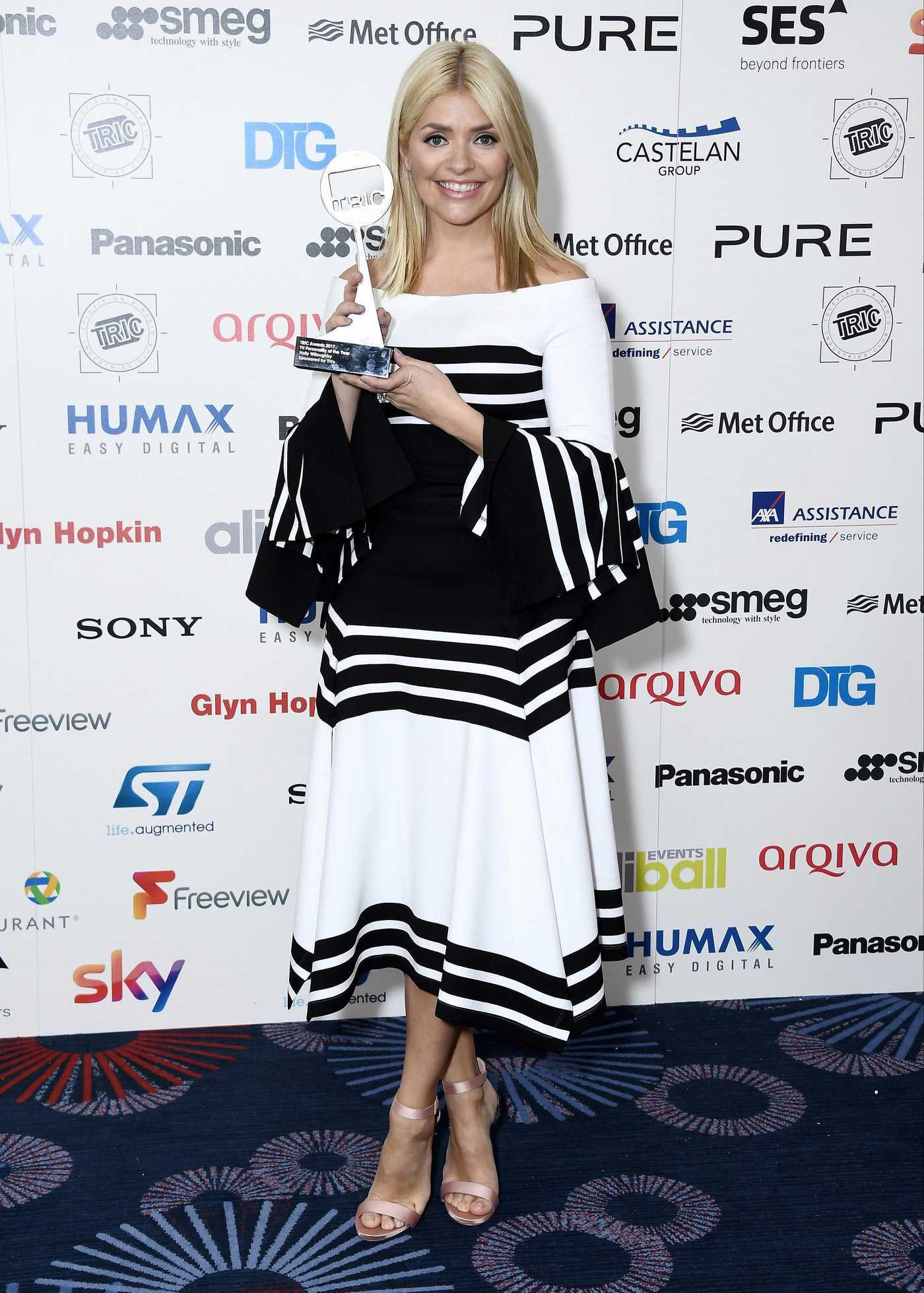 Holly Willoughby at the Tric Awards at Grosvenor House in London 03/14/2017