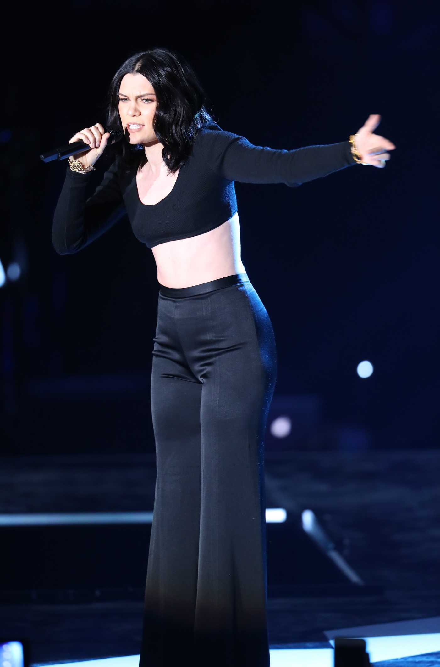 Jessie J Performs at the WE Day Show at Wembley Arena in London 03/22/2017