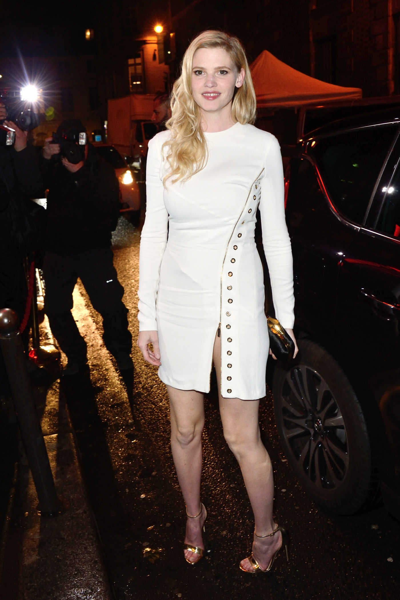 Lara Stone at the L'Oreal Party During the Paris Fashion Week 03/05/2017