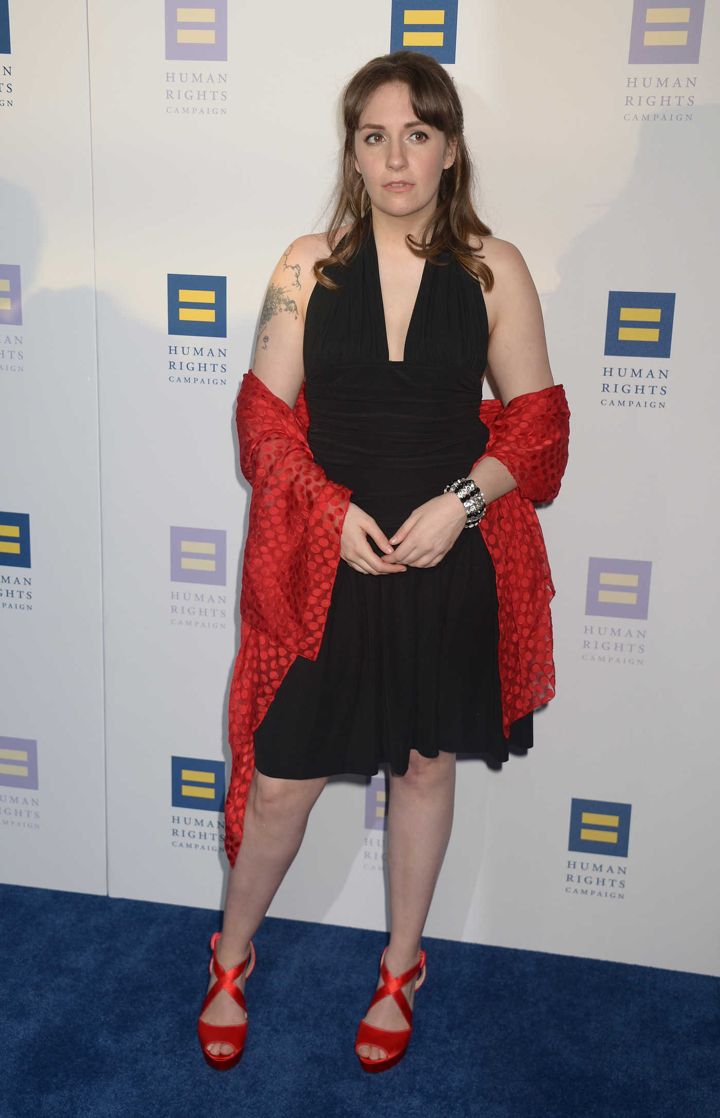 Lena Dunham at the Human Rights Campaign Gala Dinner in Los Angeles 03/18/2017
