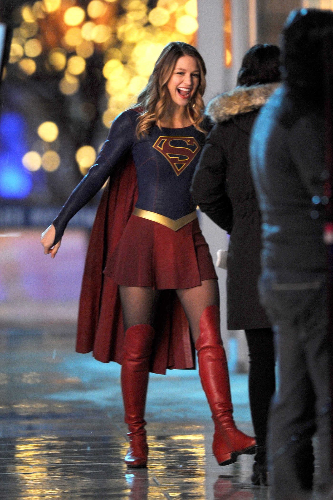 Melissa Benoist on the Set of the Supergirl in Vancouver 03/10/2017