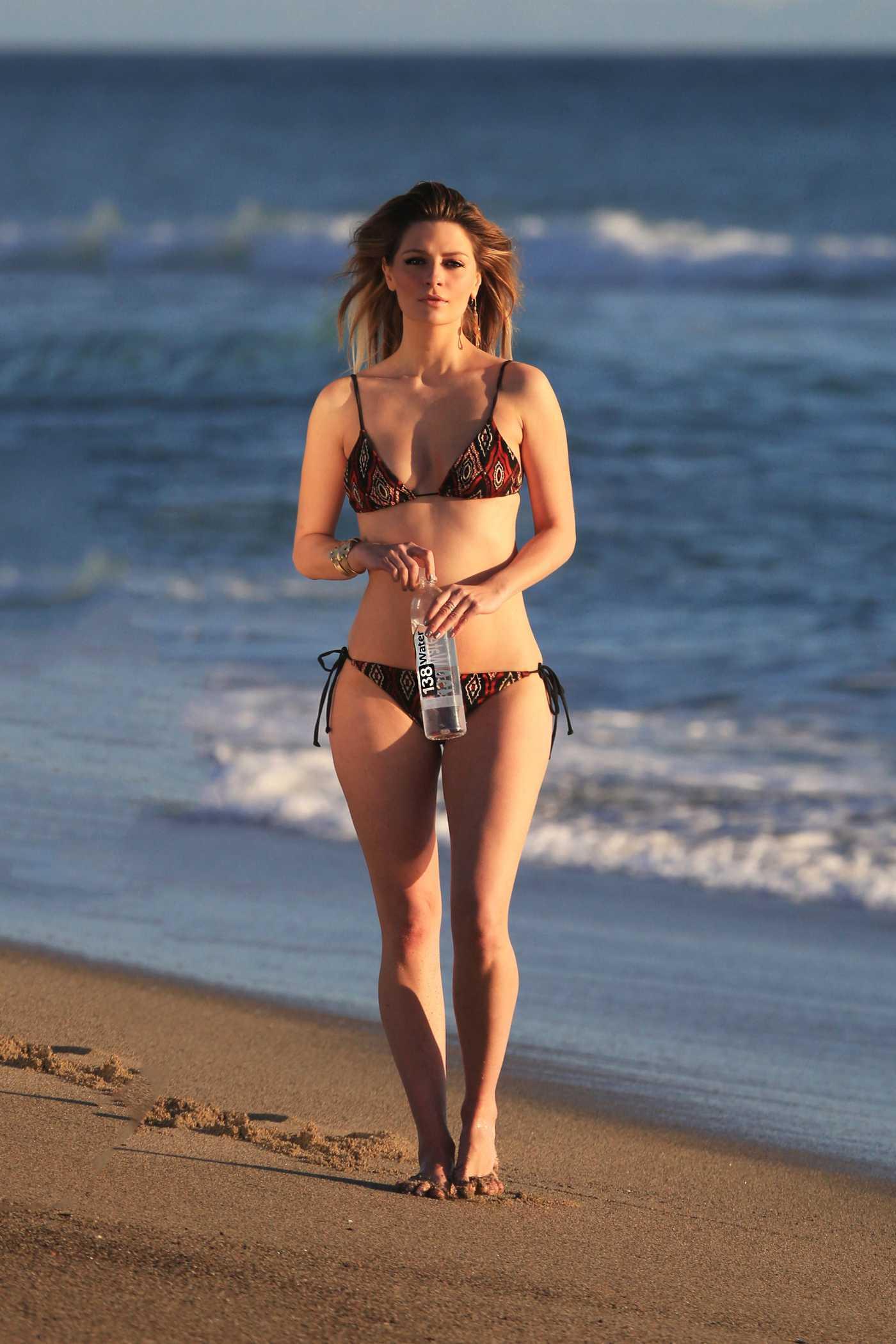 Mischa Barton Does a 138 Water Bikini Photoshoot in Huntington Beach 03/01/2017