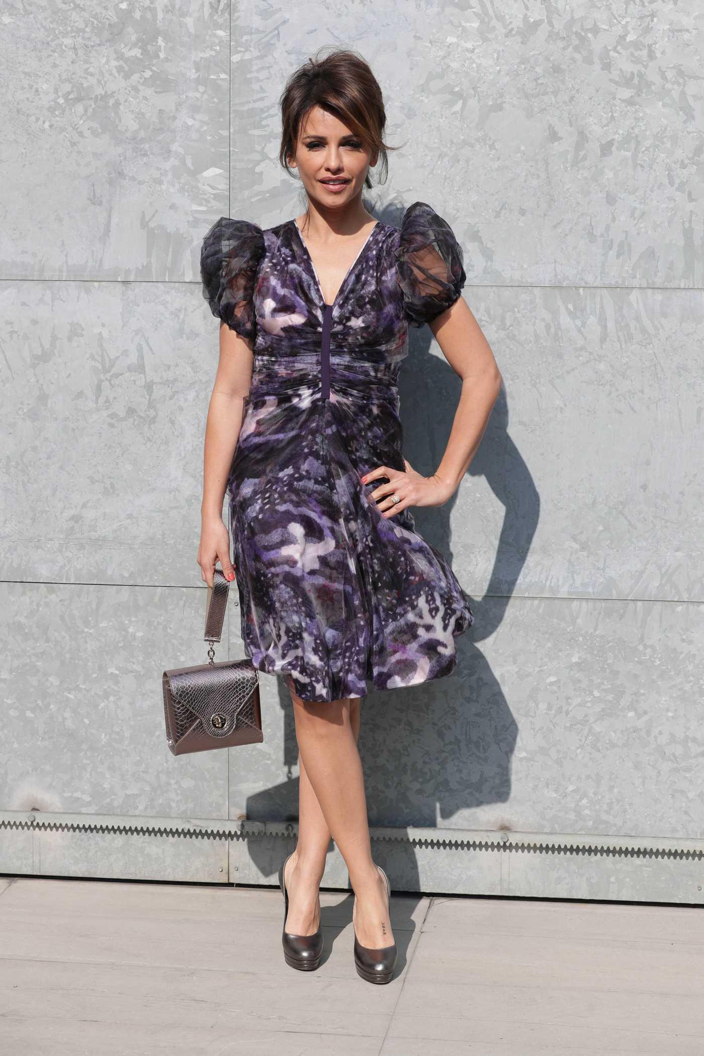 Monica Cruz at Armani Fashion Show During the Milan Fashion Week 02/27/2017