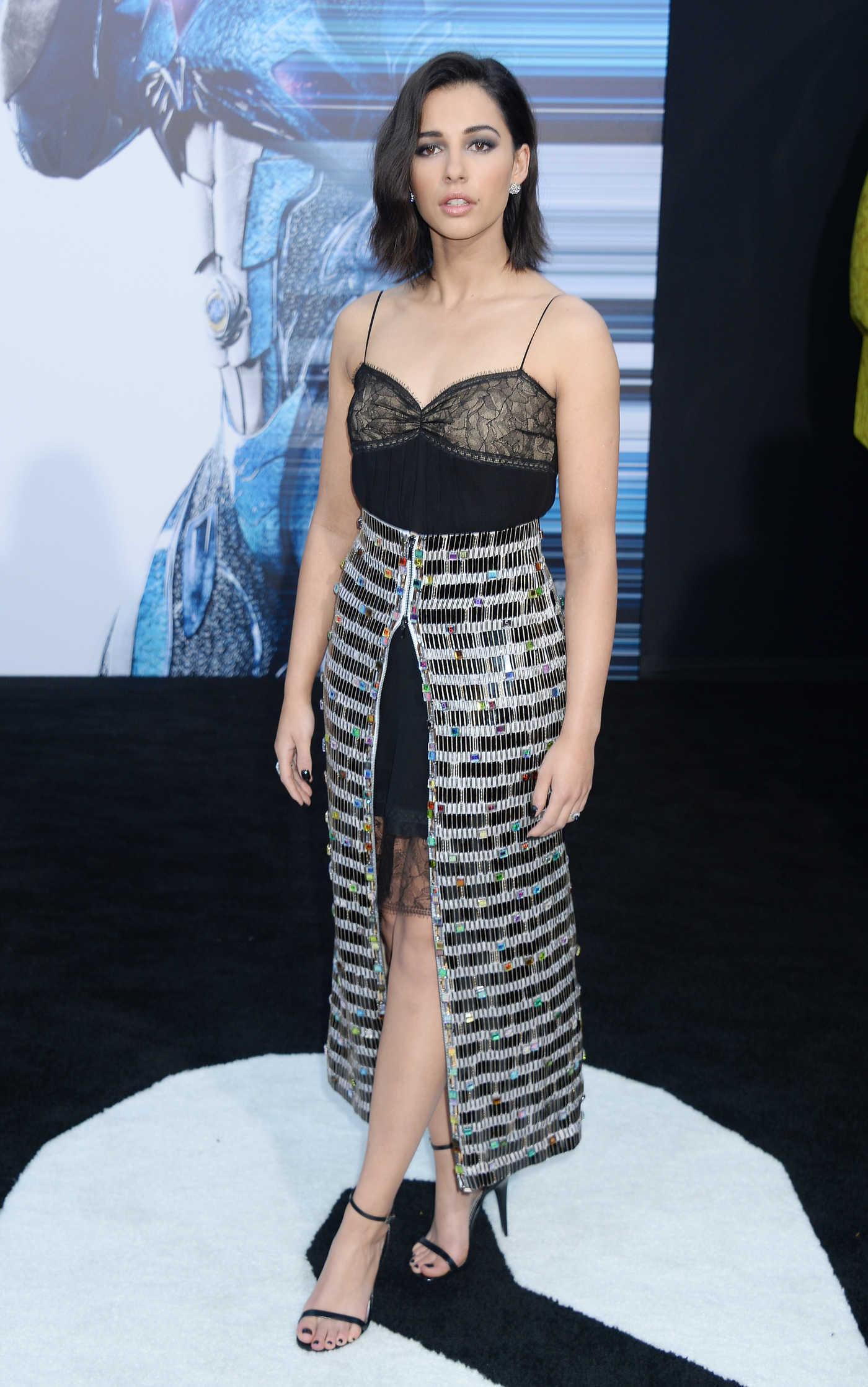 Naomi Scott at the Power Rangers Los Angeles Premiere 03/22/2017