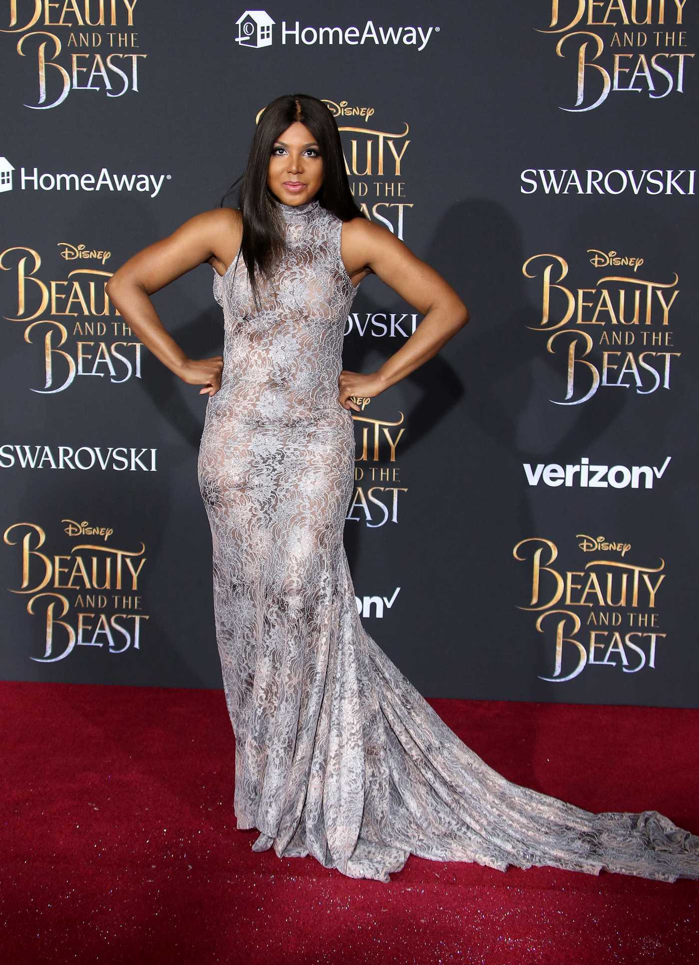 Toni Braxton at the Beauty and the Beast Premiere Los Angeles 03/02/2017