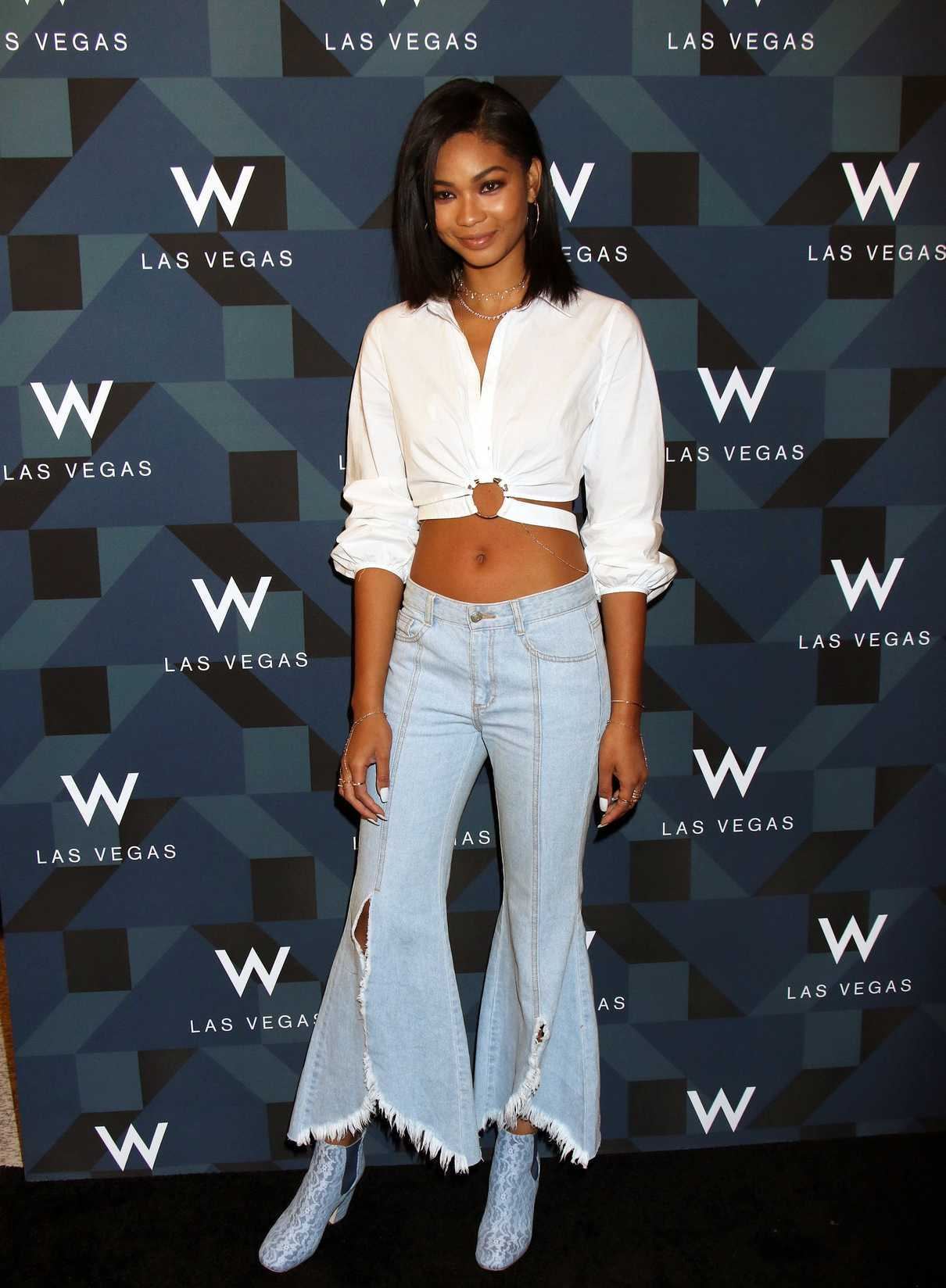 Chanel Iman at the W Las Vegas Hosts Grand Opening Celebration in Las Vegas 03/31/2017