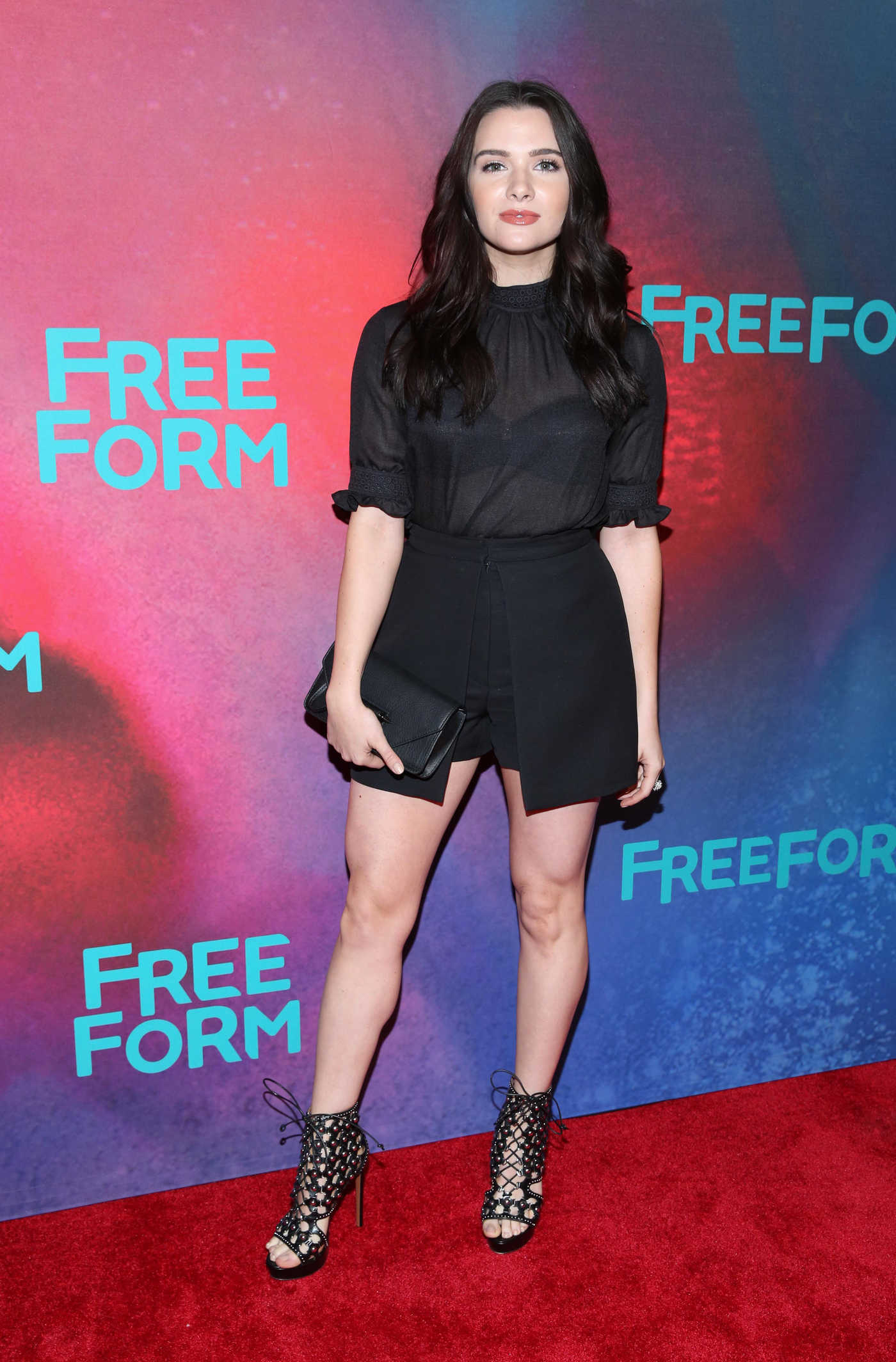Katie Stevens at the Freeform 2017 Upfront at Hudson Mercantile in New York 04/19/2017