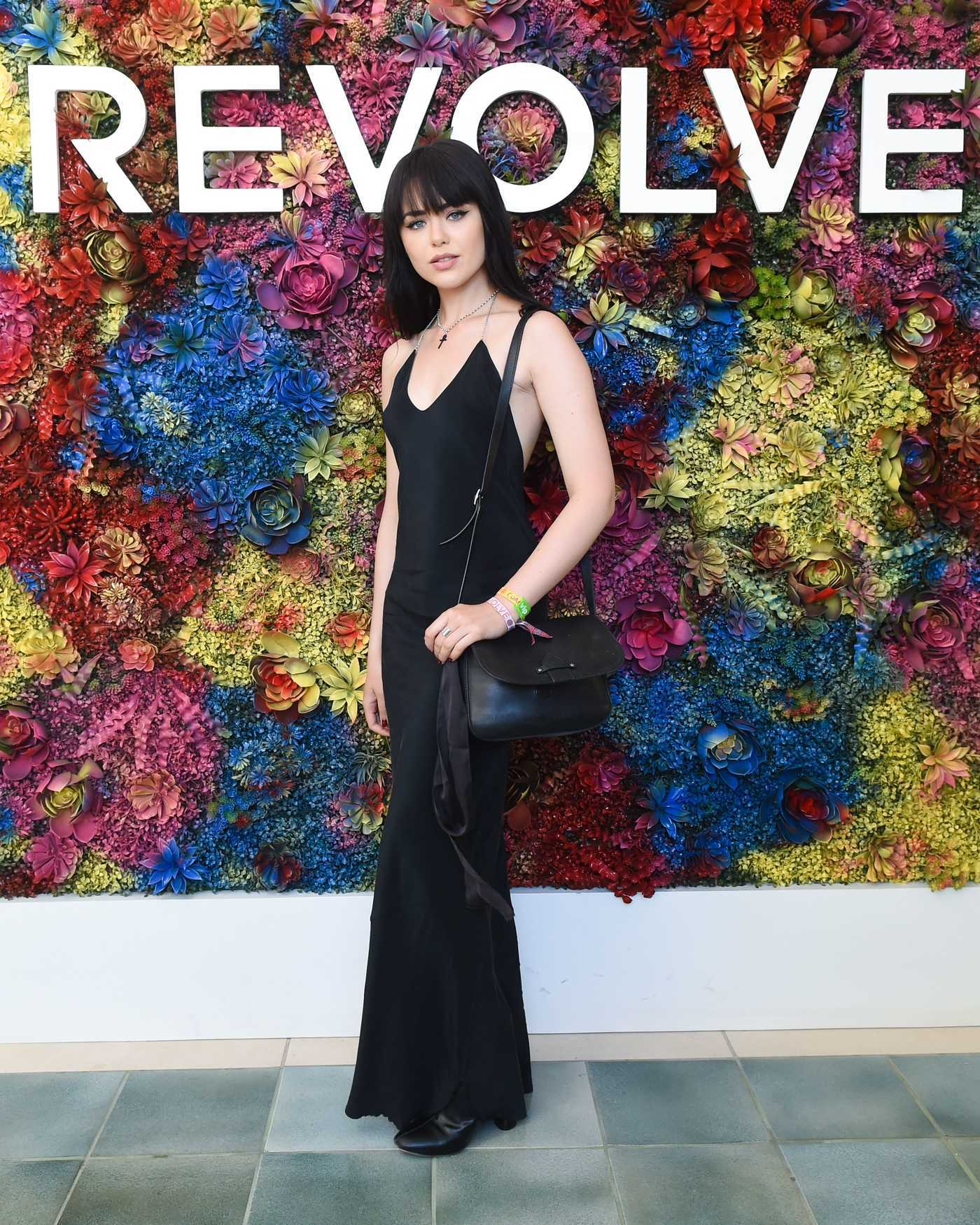Kristina Bazan Attends the REVOLVE Desert House During the Coachella Valley Music and Arts Festival in Palm Springs 04/16/2017