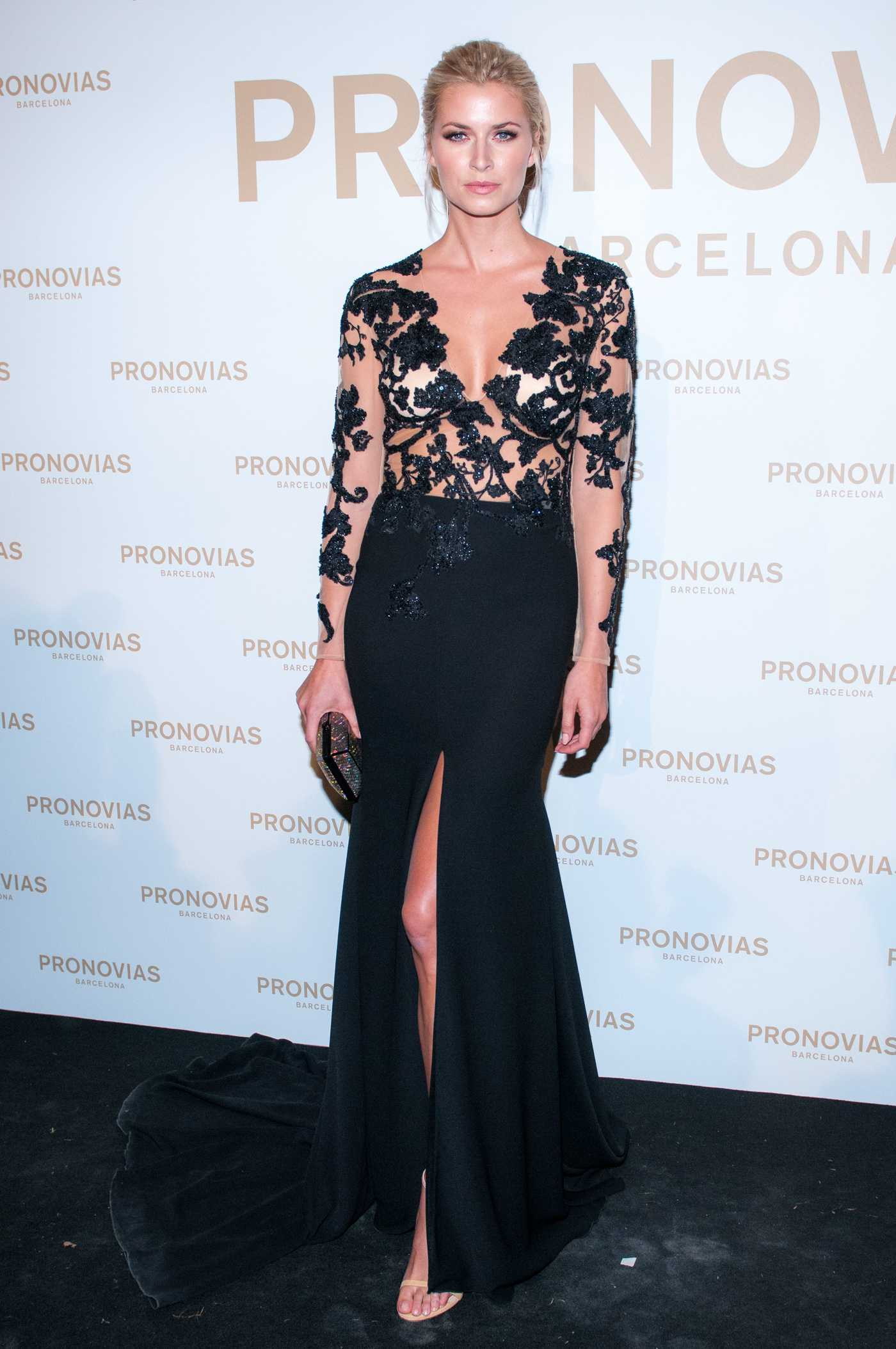 Lena Gercke at the Pronovias Catwalk Show Photocall in Barcelona 04/28/2017