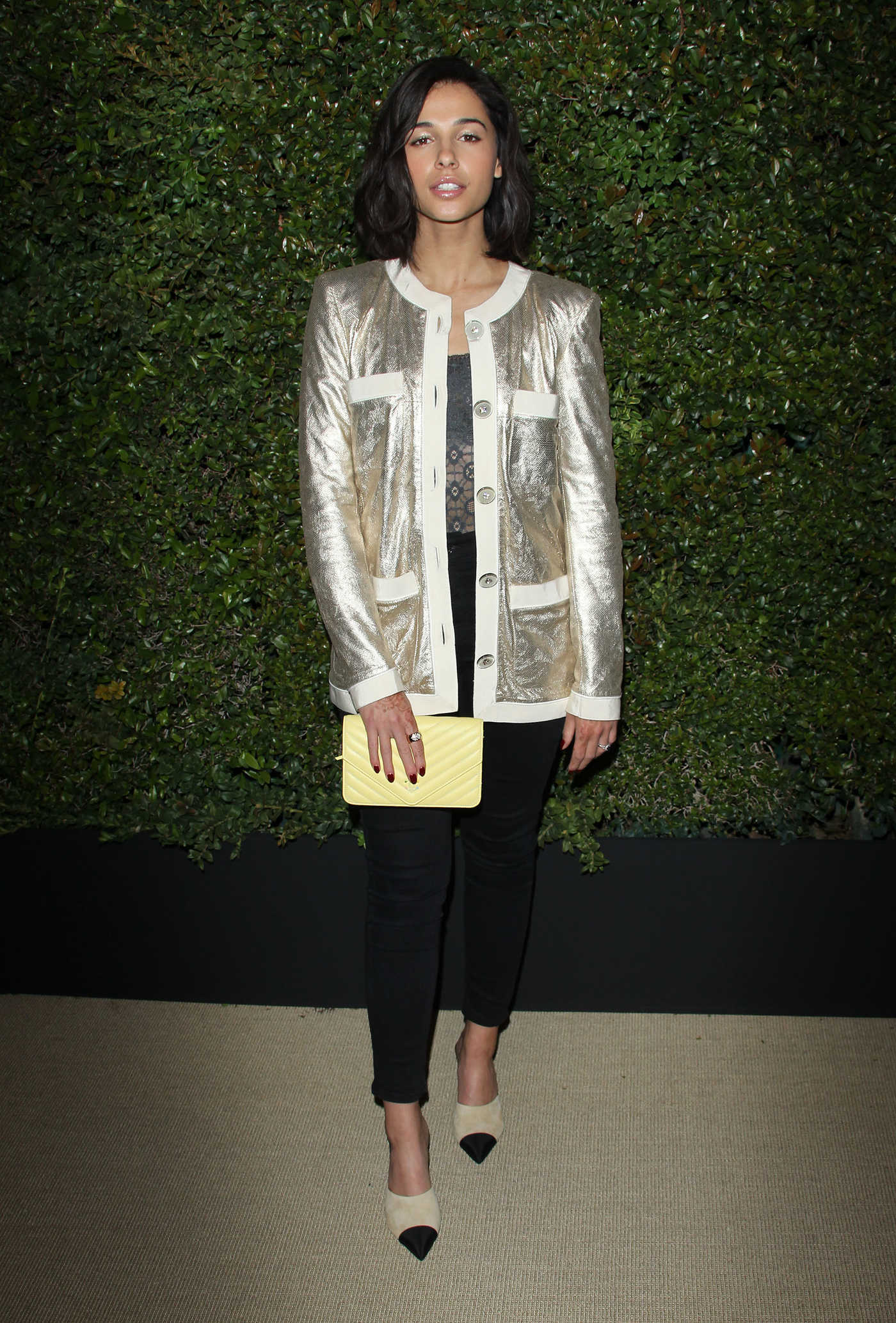 Naomi Scott at the Chanel Dinner Hosted by Pharrell Williams in Los Angeles 04/06/2017