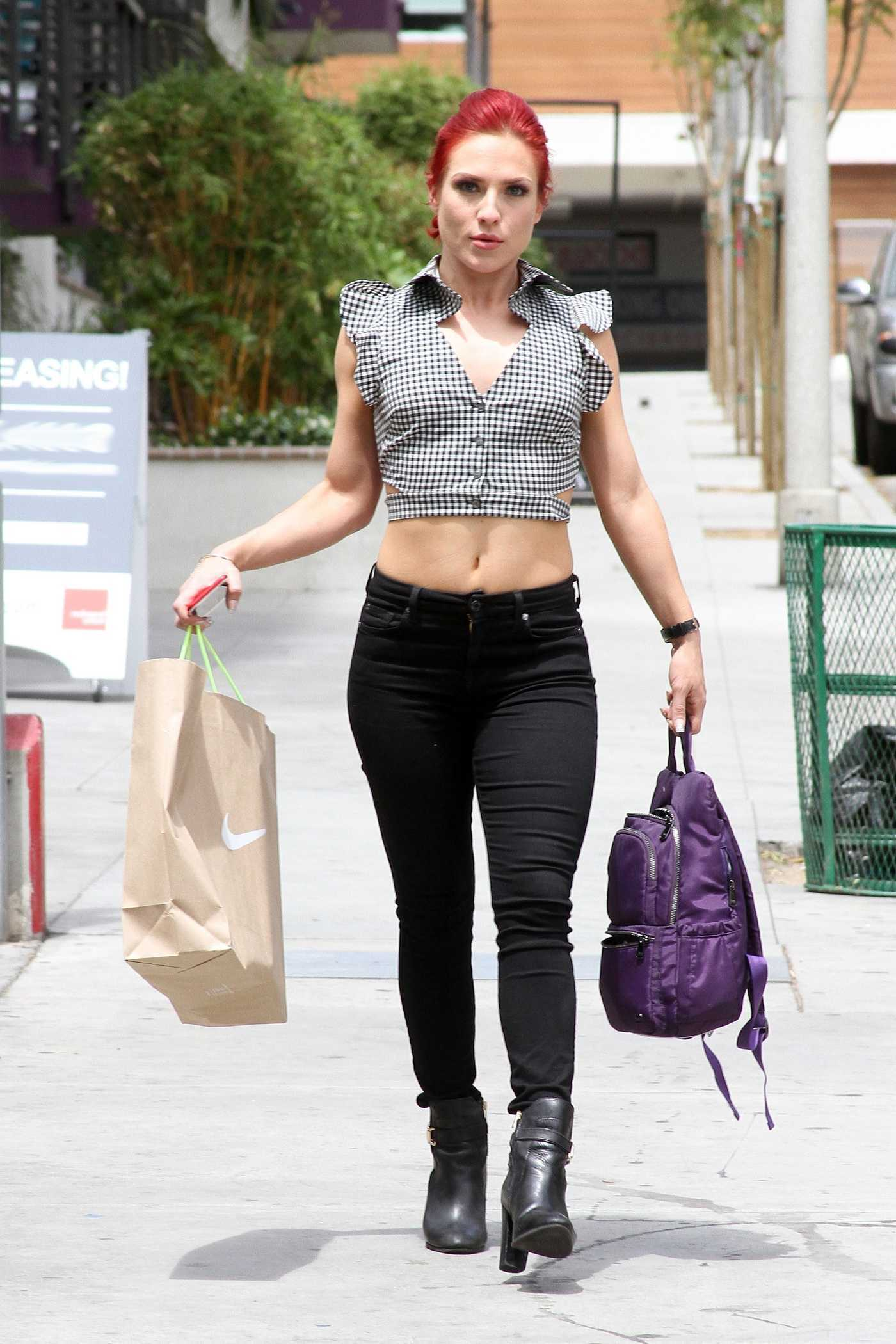 Sharna Burgess Arrives at the Dancing With the Stars Rehearsal Studio in Los Angeles 04/27/2017