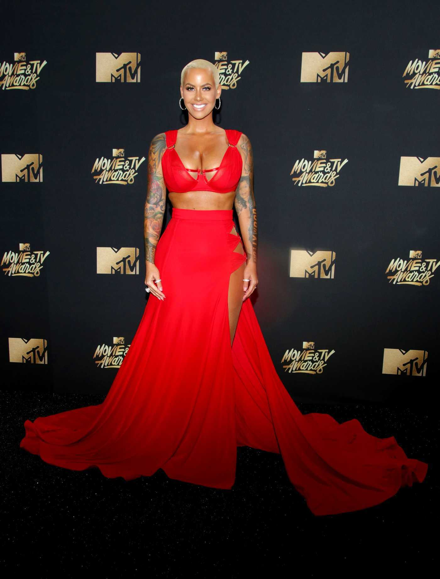 Amber Rose at 2017 MTV Movie and TV Awards in Los Angeles 05/07/2017