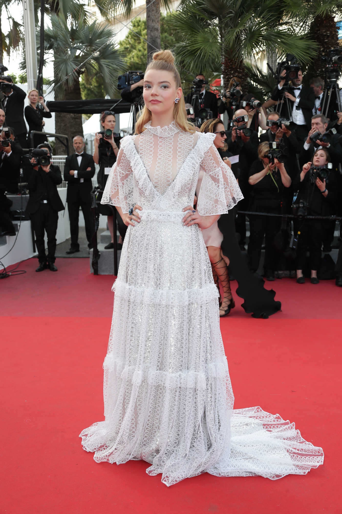 Anya Taylor-Joy at The Meyerowitz Stories Premiere During the 70th Annual Cannes Film Festival 05/21/2017